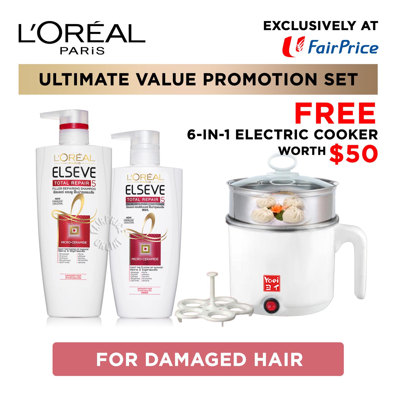 L'Oreal Paris Elseve Shampoo & Conditioner - Total Repair