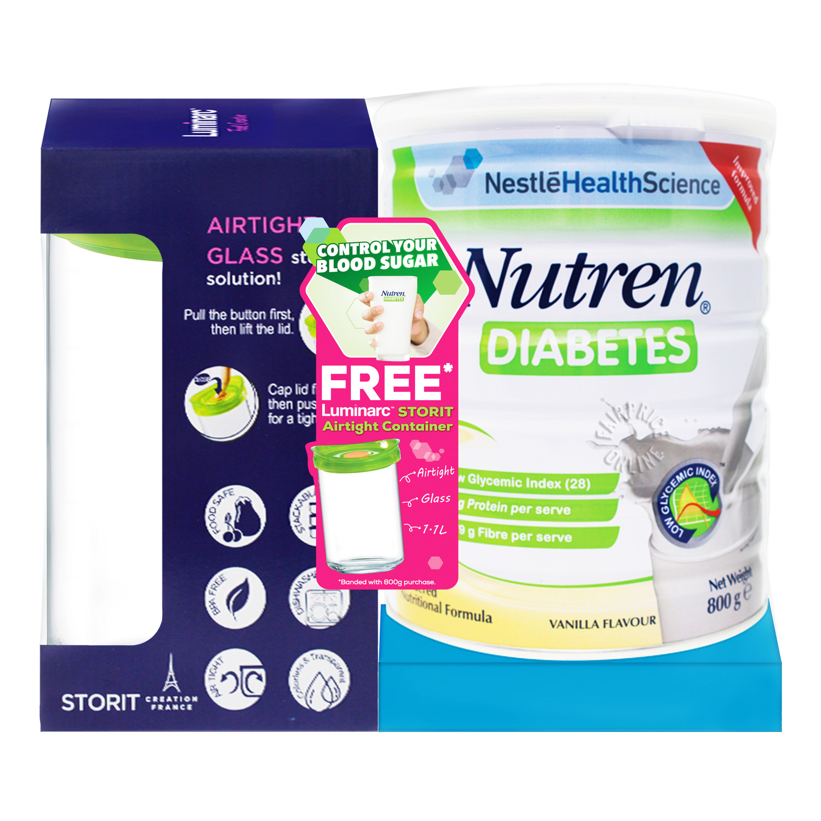 Nestle Health Science Nutren Diabetes Milk Formula - Vanilla