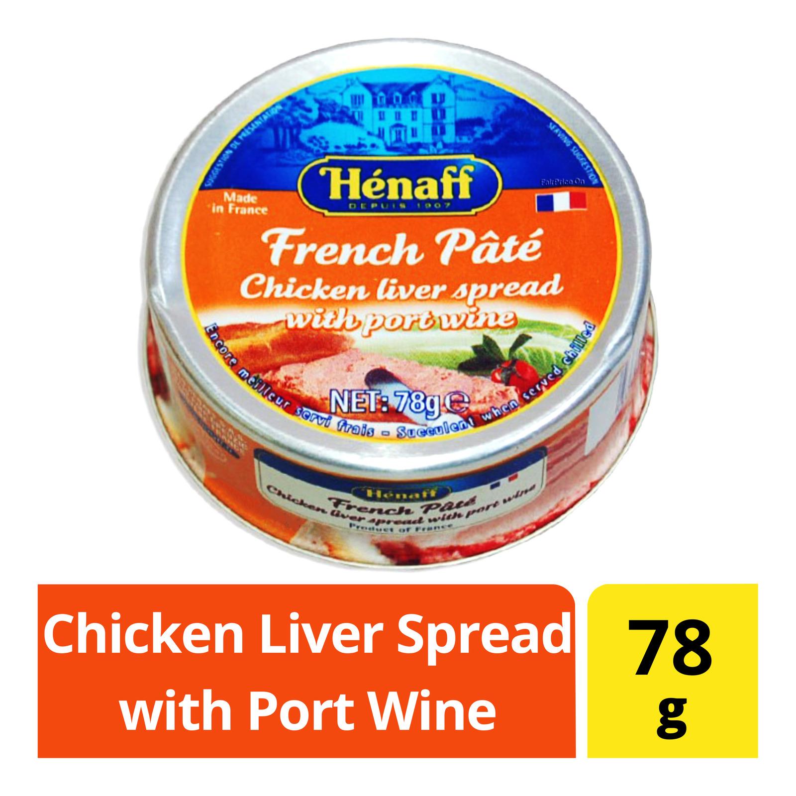 Henaff Chicken Liver Spread with Port Wine