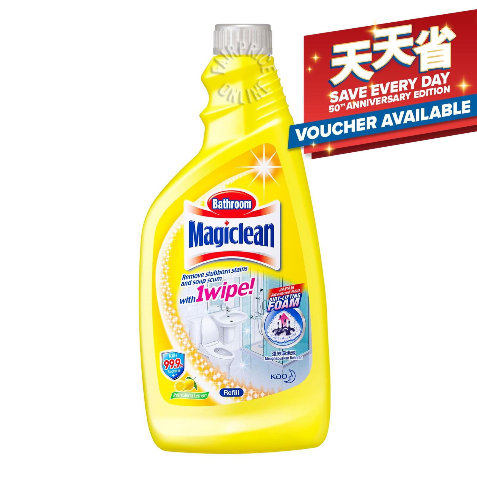 MAGICLEAN lemon scent bathroom cleaner refill pack 500ml