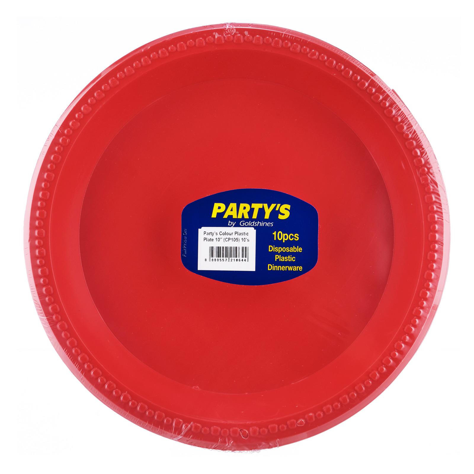 Party's Disposable Plastic Dinnerware - Colour Plates