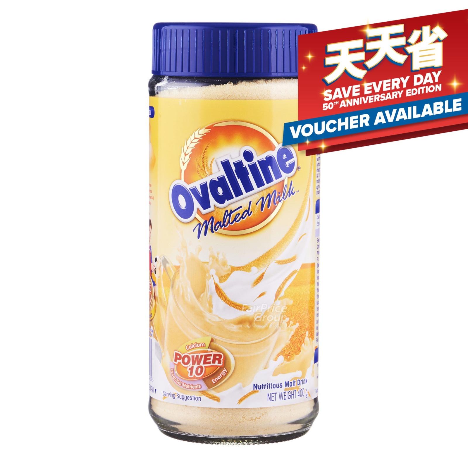 Ovaltine Instant Malt Drink Powder Jar - Malted Milk (Power 10)