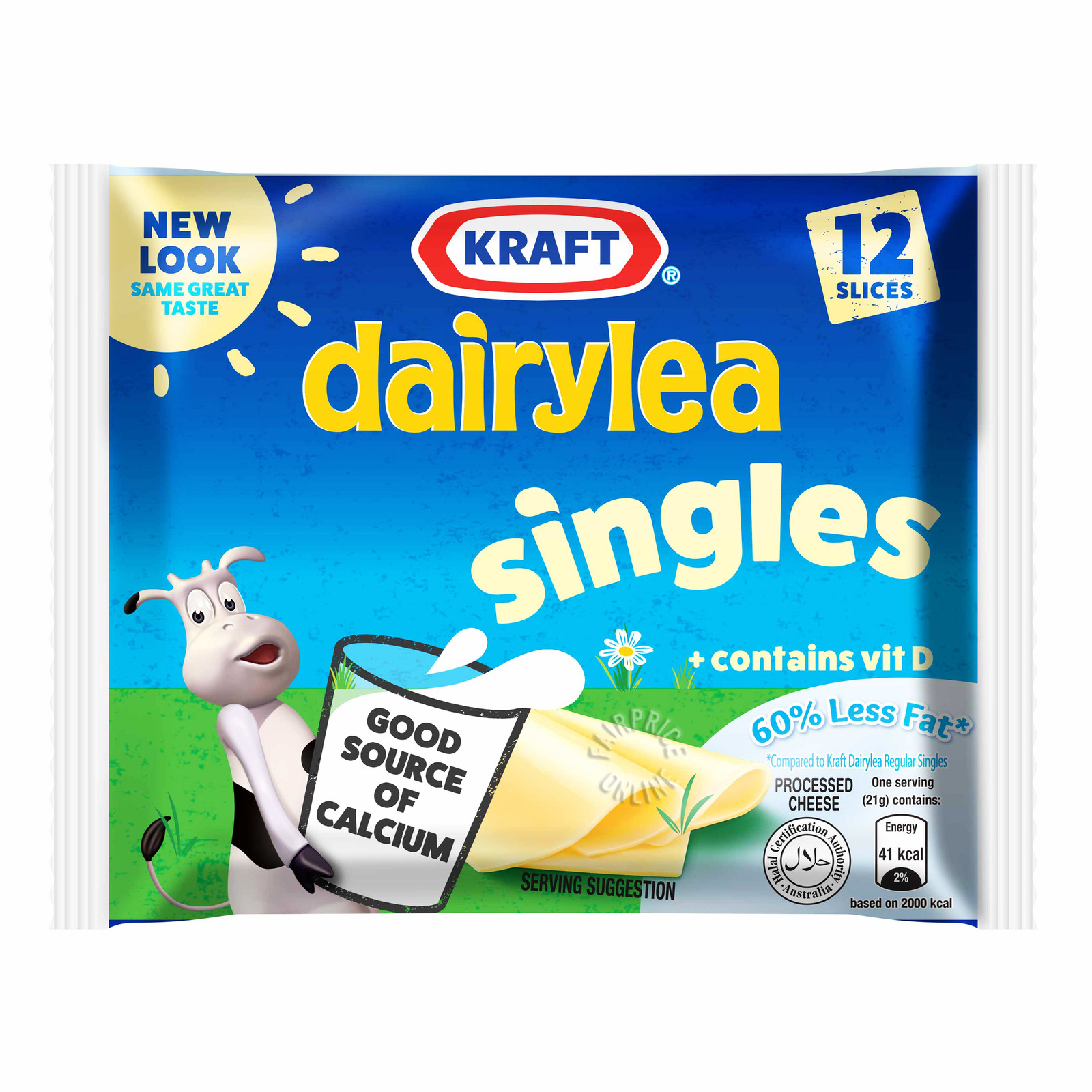 Kraft Singles Hi-Calcium 60% Less Fat Cheese Slices - 12 Slices