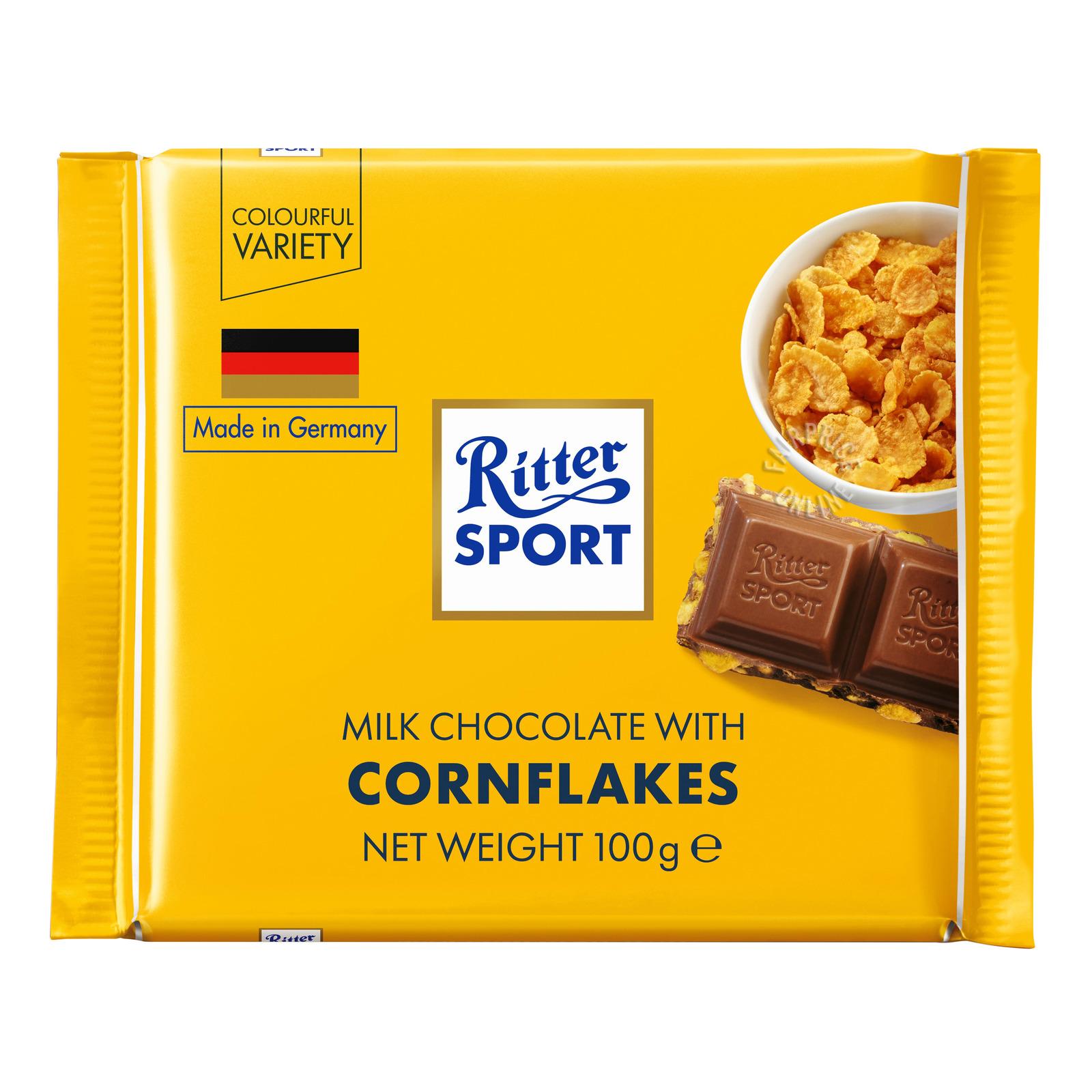 RITTER SPORT Milk Chocolate W/ Cornflakes 100g
