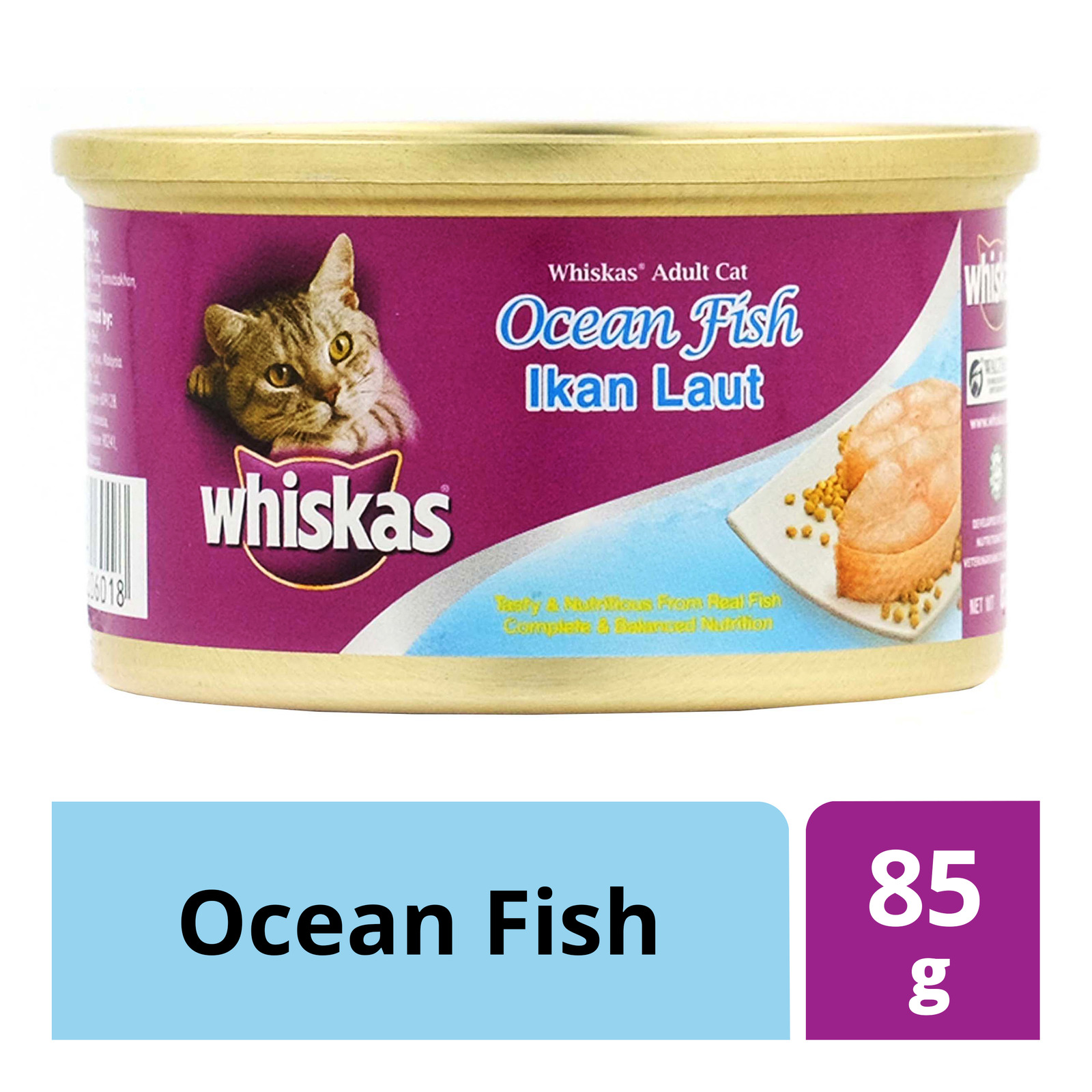 Whiskas Adult Cat Can Food - Ocean Fish