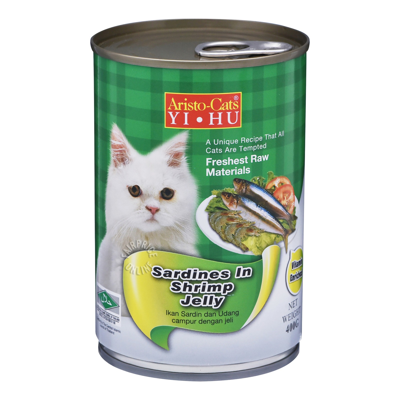 Aristo-Cats Jelly Can Cat Food - Sardines in Shrimp Jelly