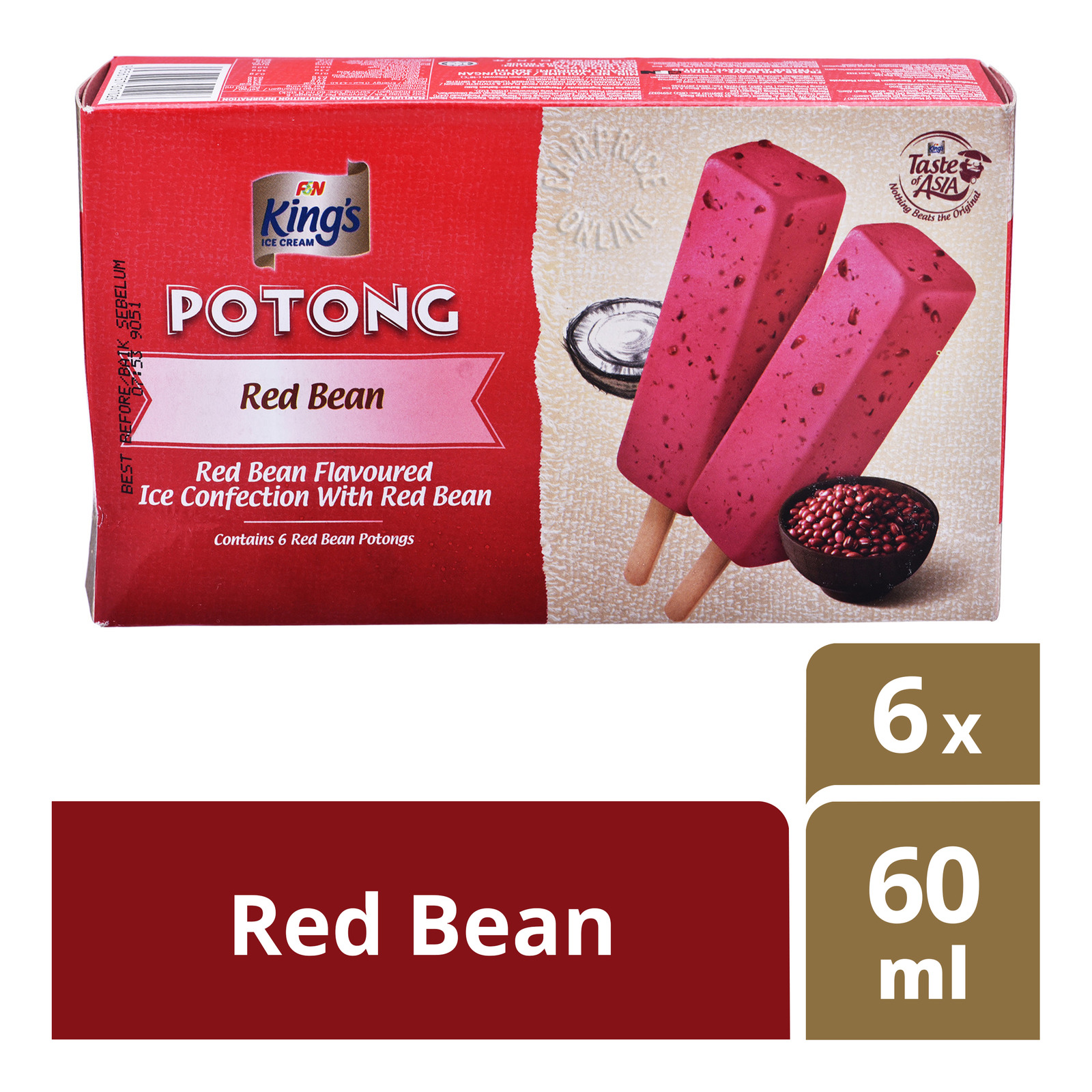 King's Potong Ice Cream - Red Bean