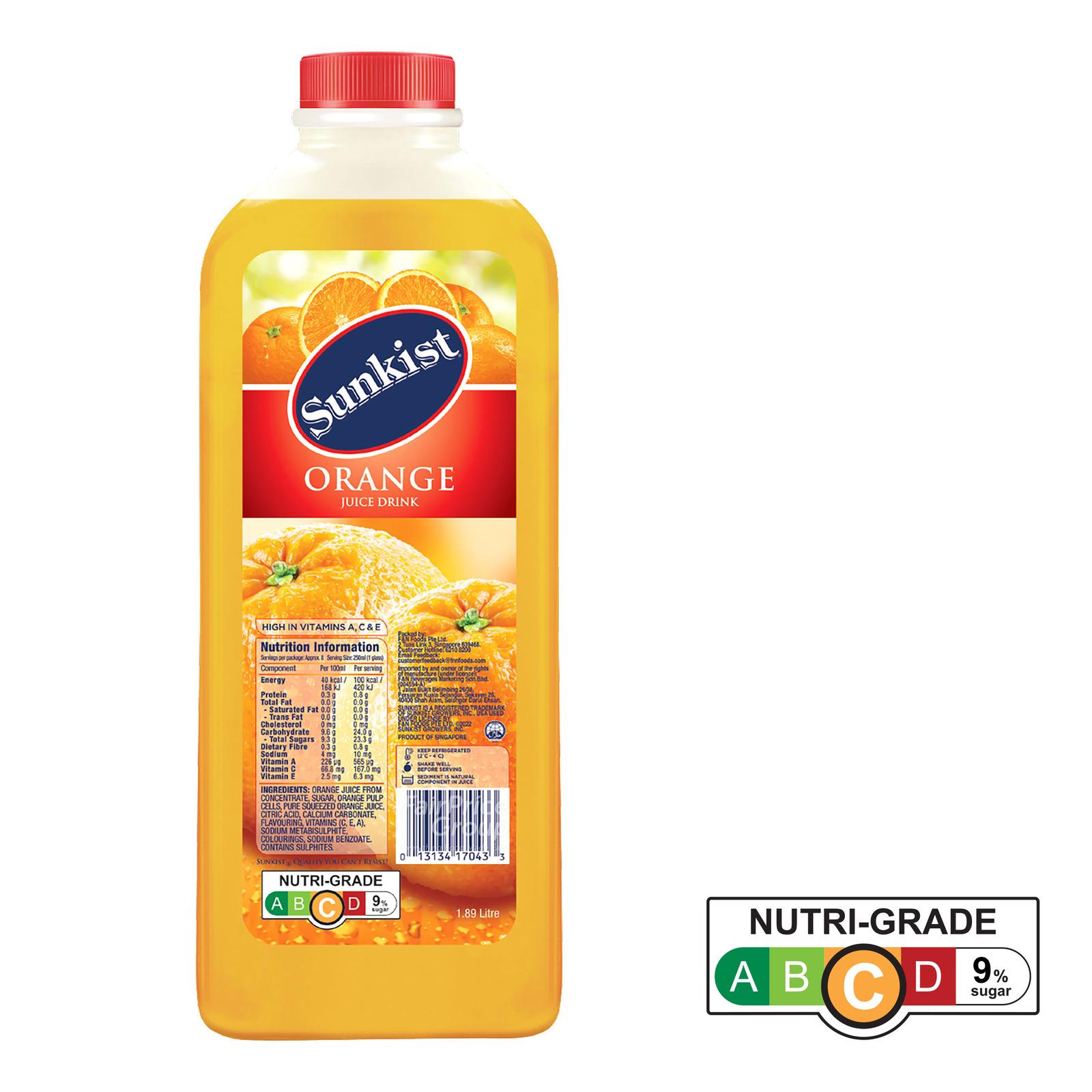 Sunkist Fruit Bottle Juice - Orange