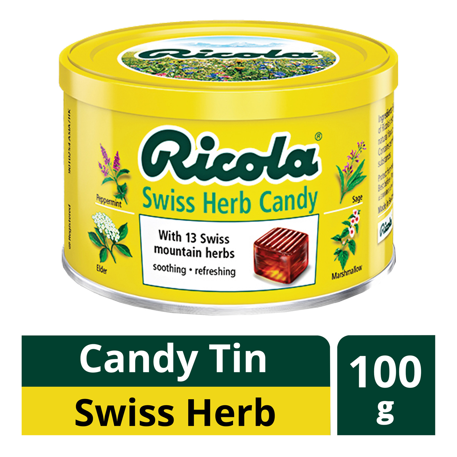 Ricola Natural Relief Swiss Herb Candy Tin