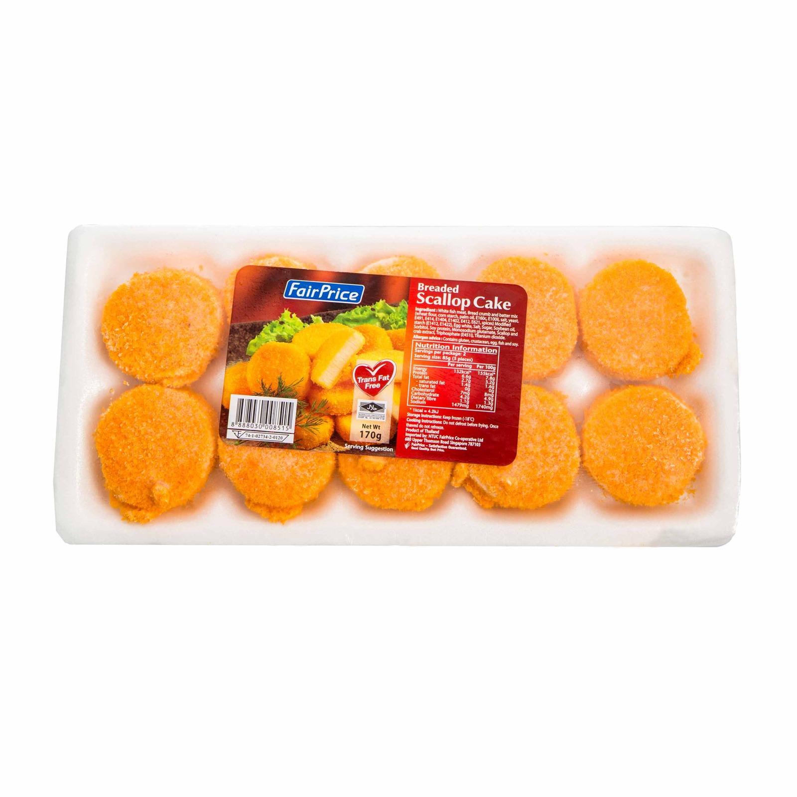 FairPrice Frozen Breaded Scallop Cakes
