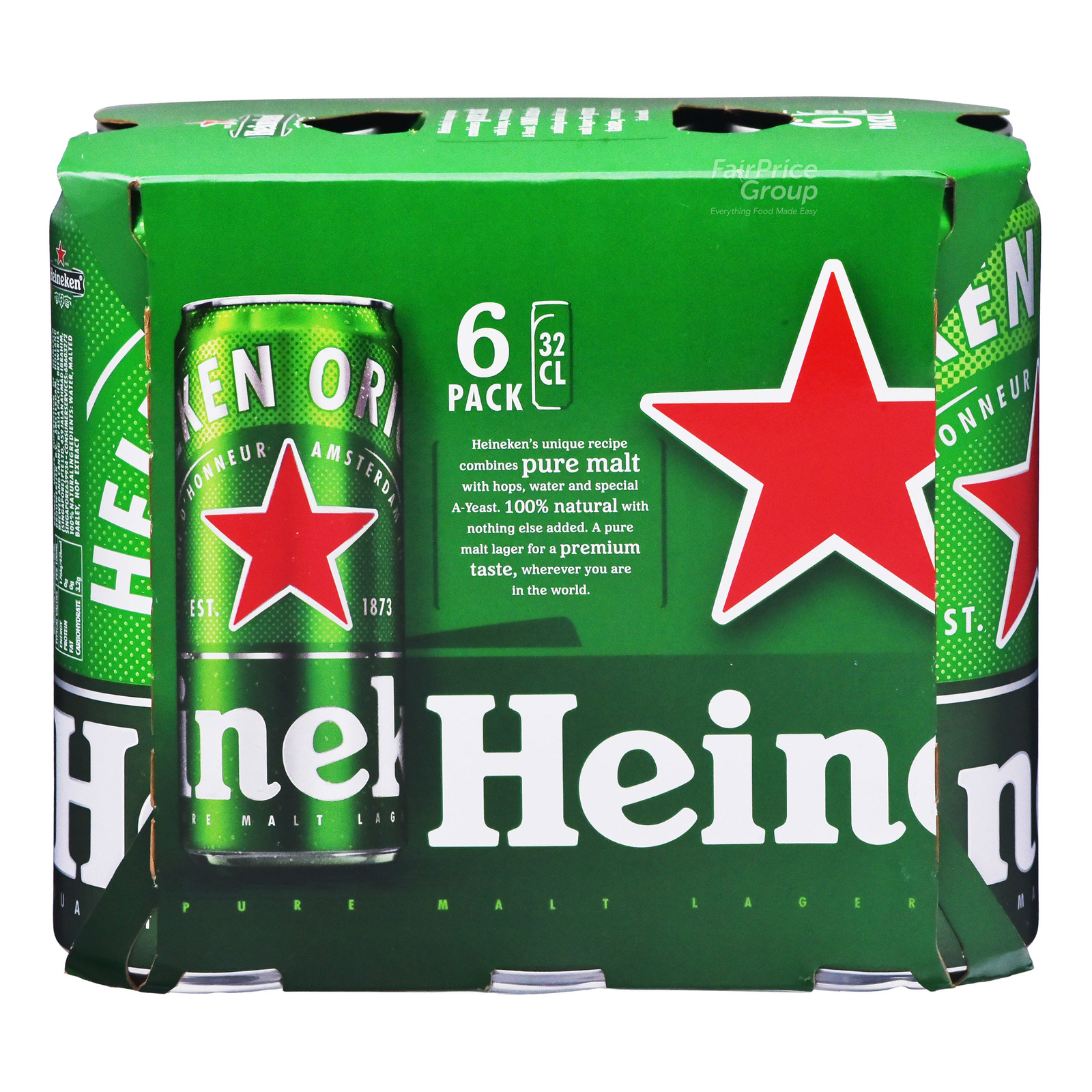 Heineken Lager Beer Can 6x320ml