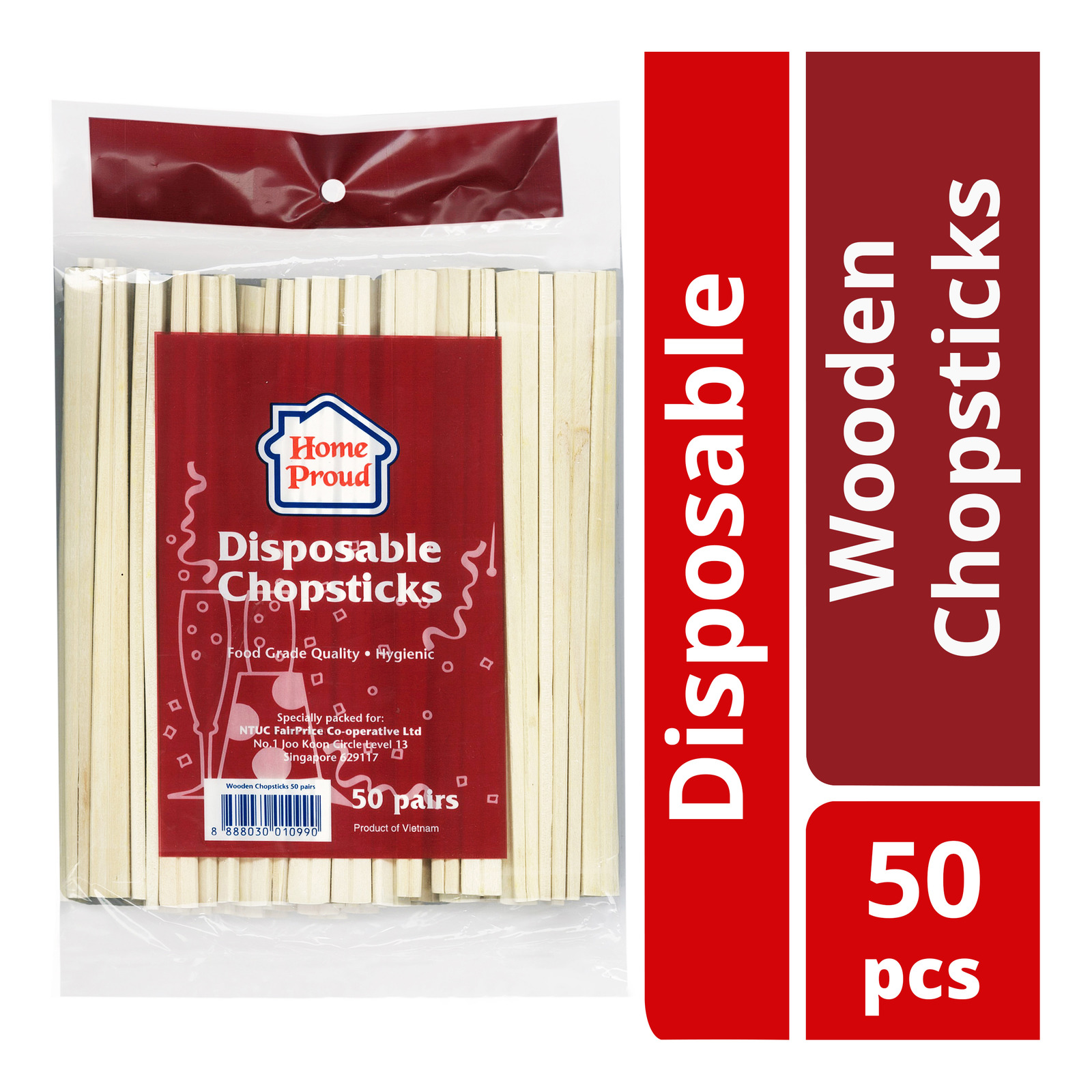 HomeProud Disposable Wooden Chopsticks