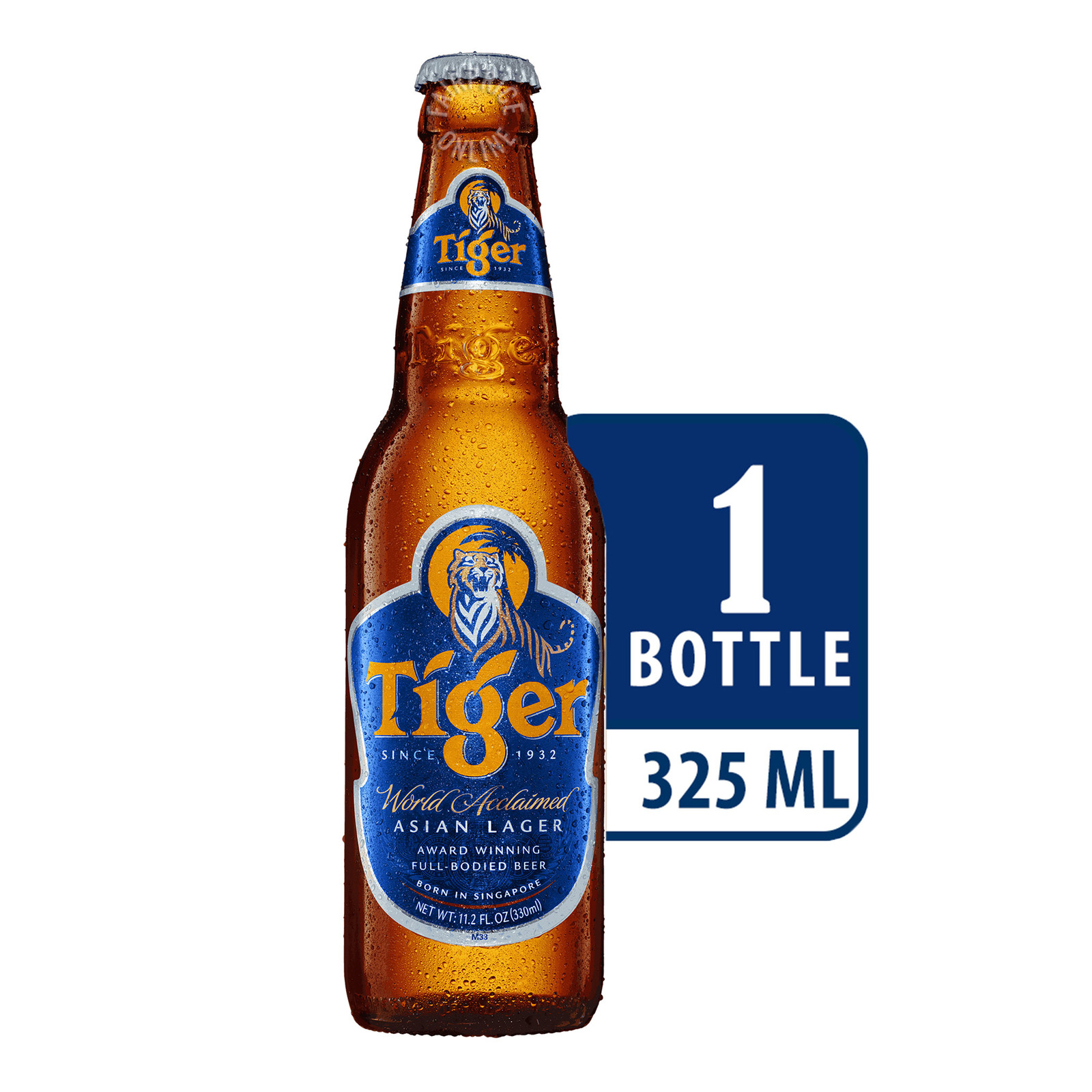 TIGER Beer Pint Bottle 330ml