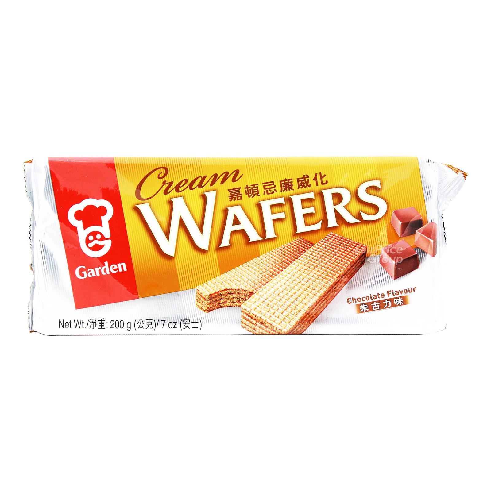 Garden Cream Wafers - Chocolate