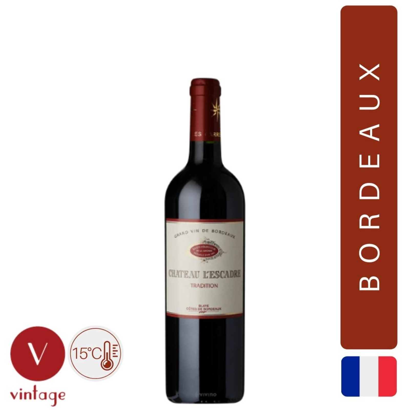 Chateau L'Escadre - Tradition - Half bottle - Red Wine