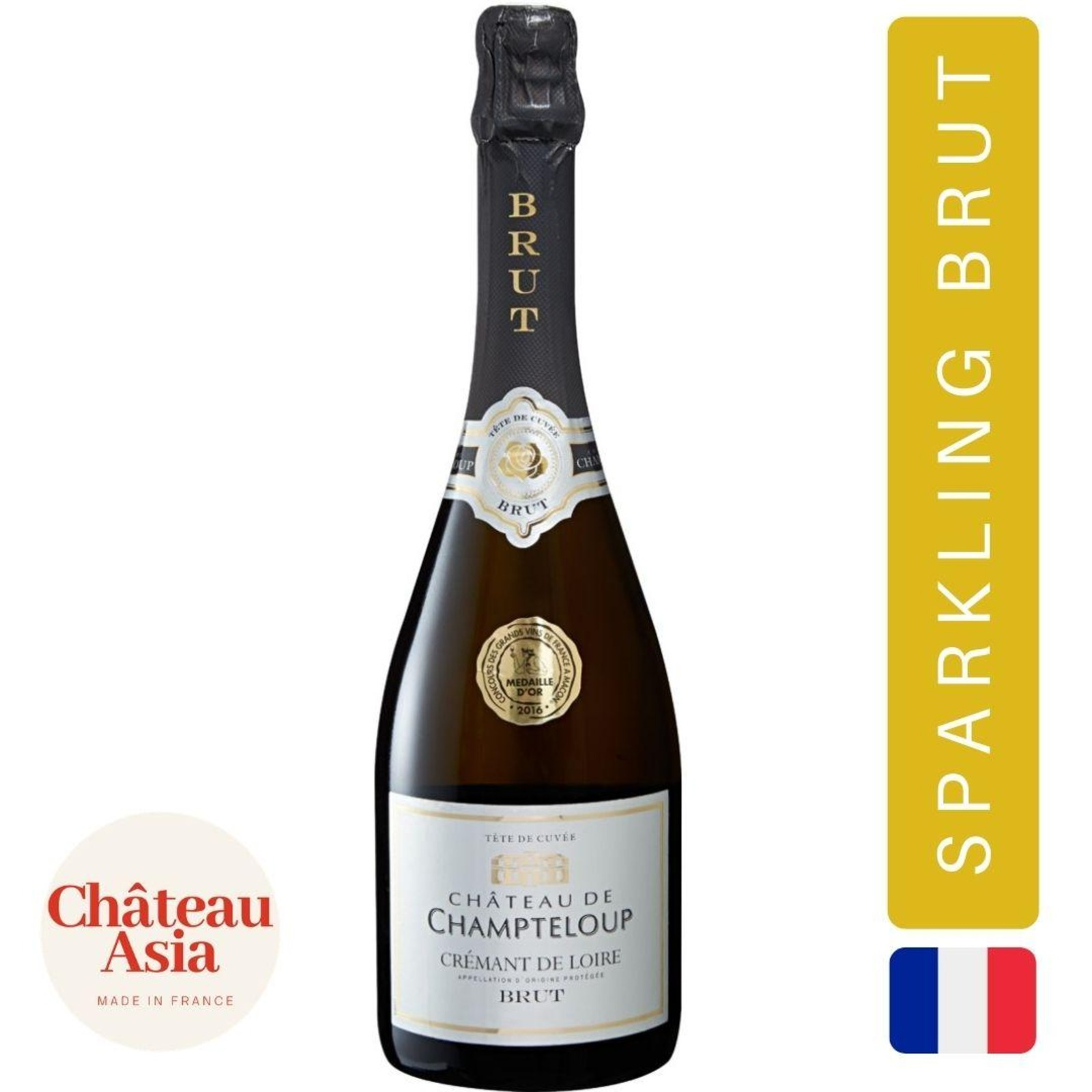 ChateaudeChampteloup - CremantdeLoire Brut -SparklingWhiteWine