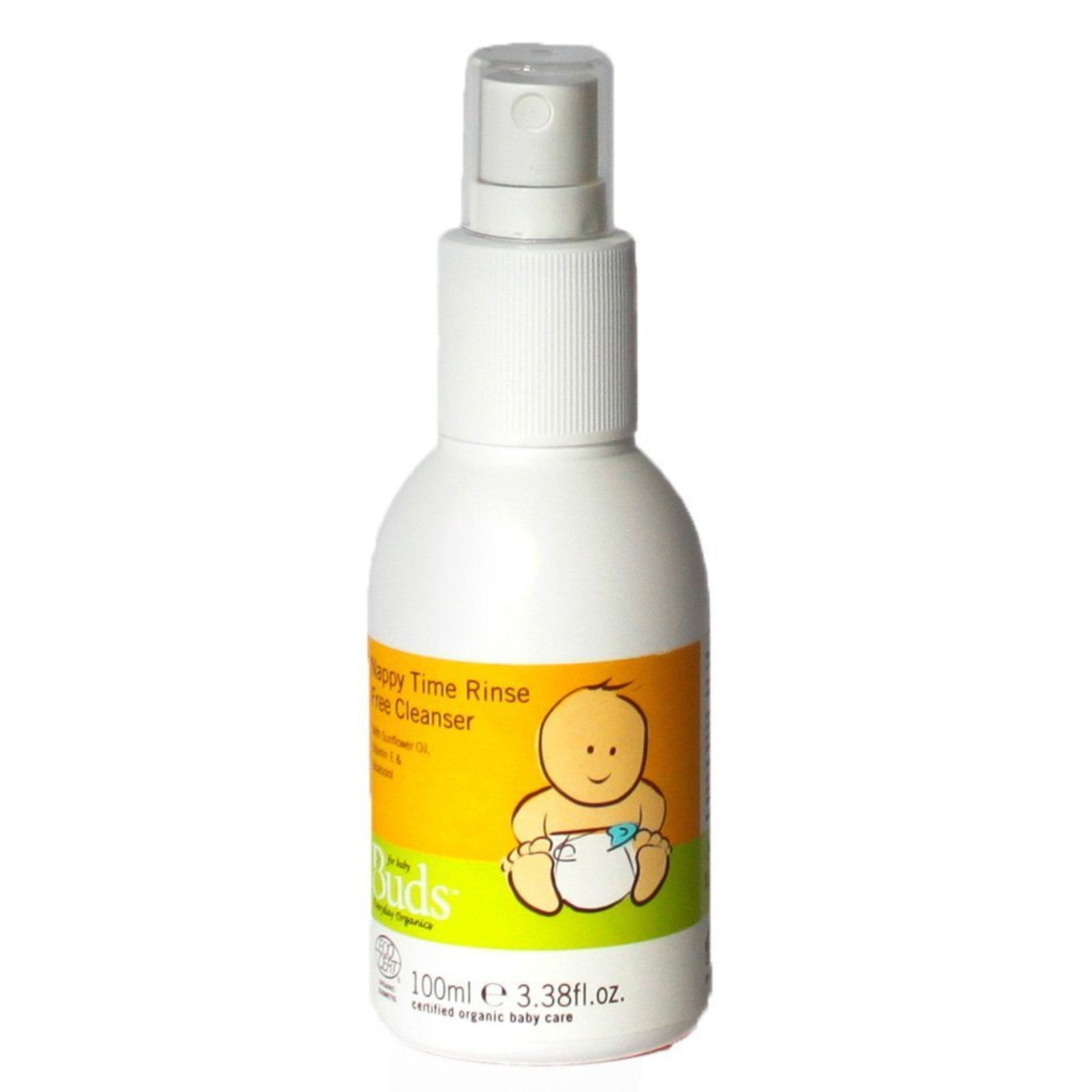 Buds Organics BEO Nappy Time Rinse-Free Cleanser