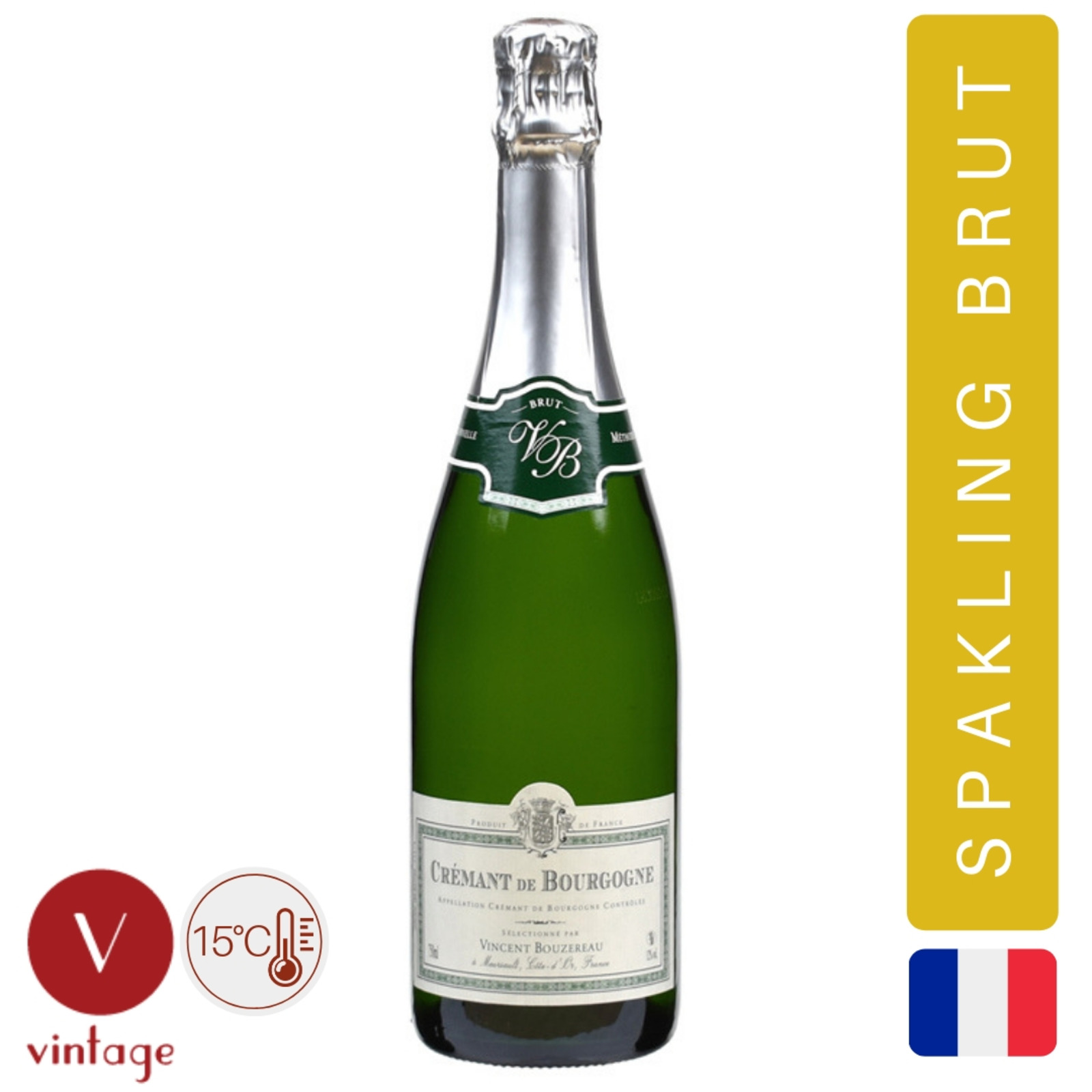 Vincent Bouzereau - Cremant De Bourgogne - White Wine