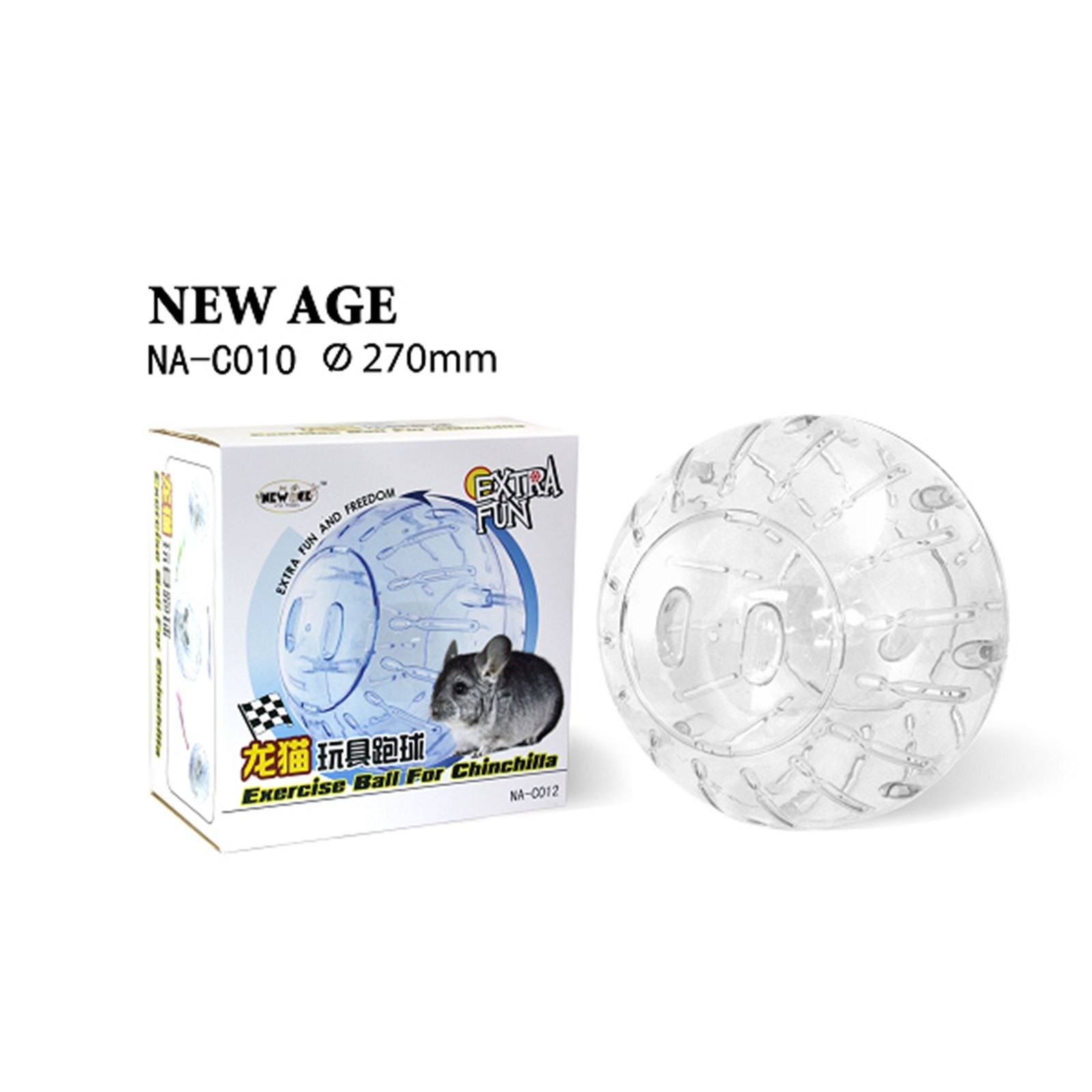 Edai New Age Chinchilla Exercise Ball Clear