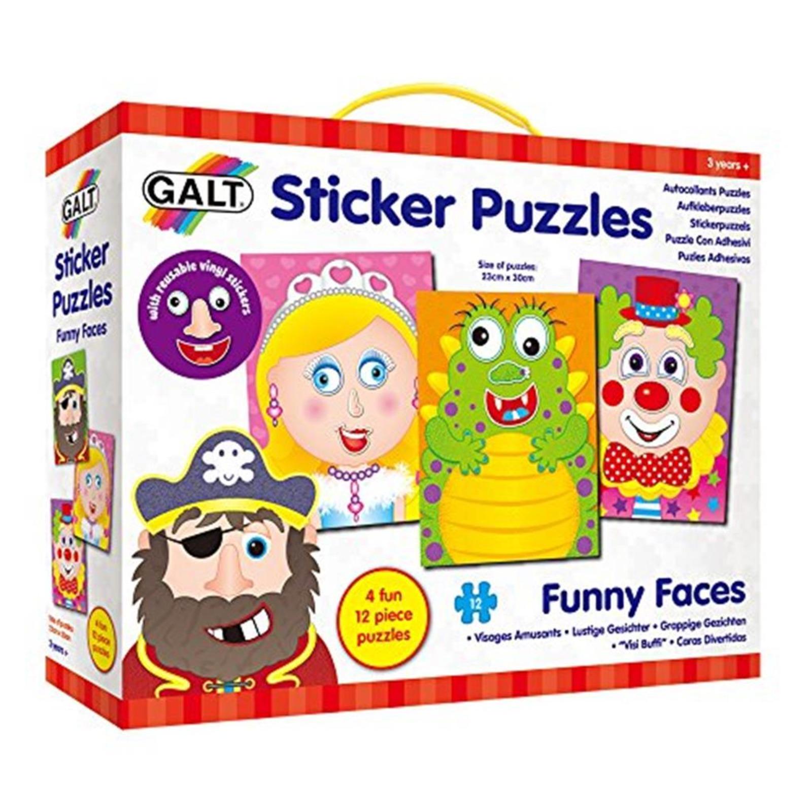 GALT Sticker Puzzles - Funny Faces