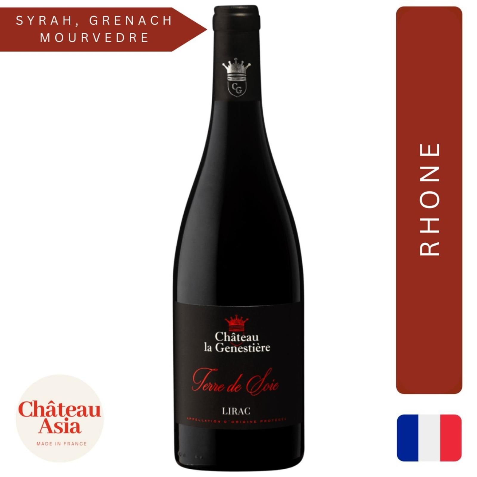 Chateau La Genestiere - Lirac Terre de Soie - Red Wine