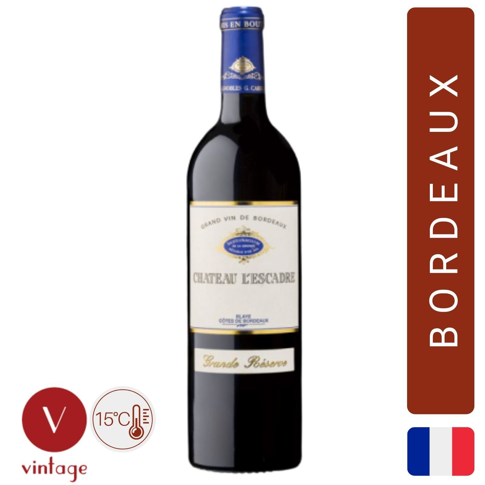 Chateau l'Escadre Grande Reserve - Bordeaux Red Wine