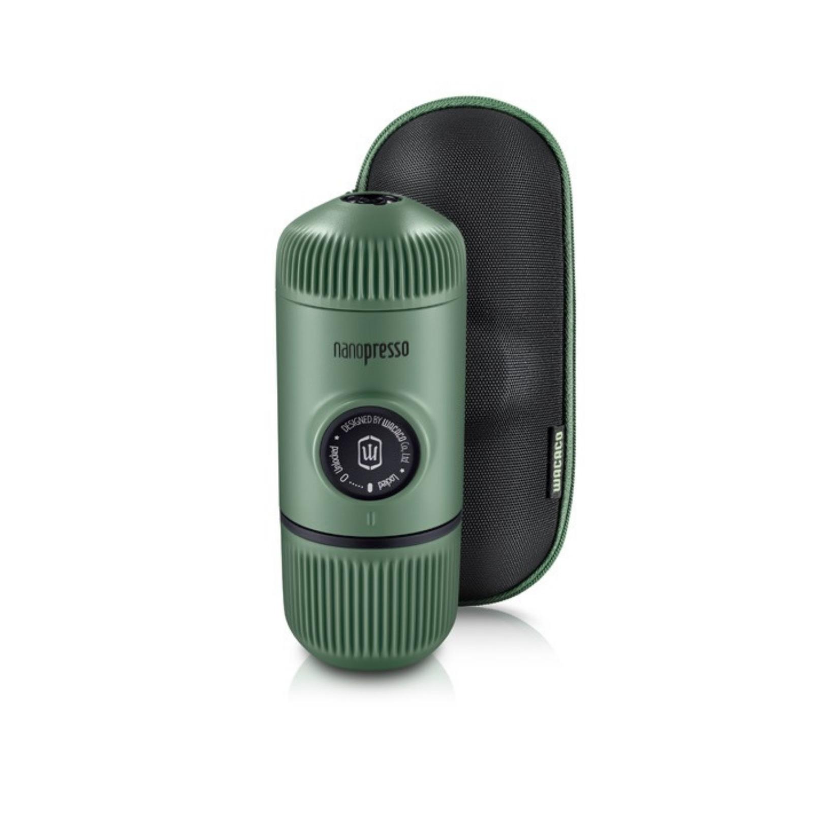 Nanopresso Moss Green Portable Espresso Maker + Hard Case