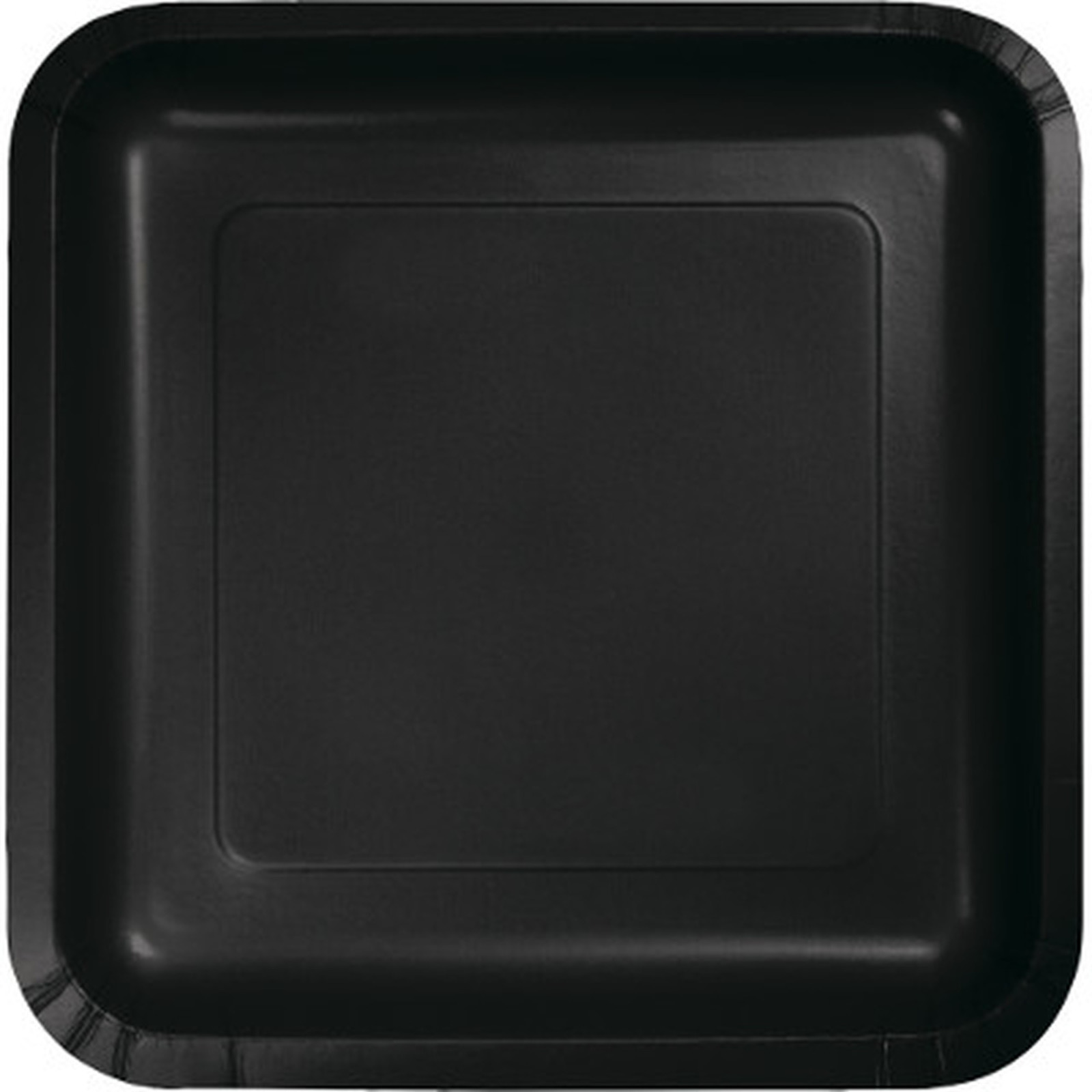 Creative Converting Black 7 Inch Square Lunch Plates