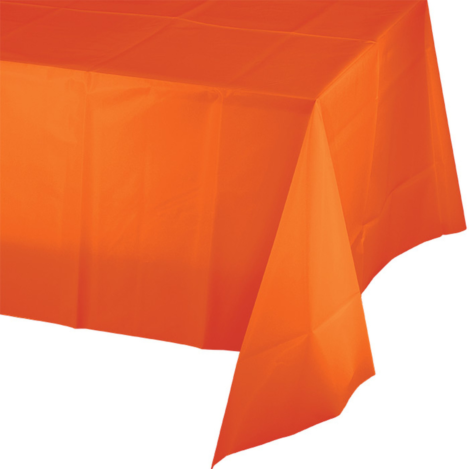Creative Converting Orange Plastic Tablecover