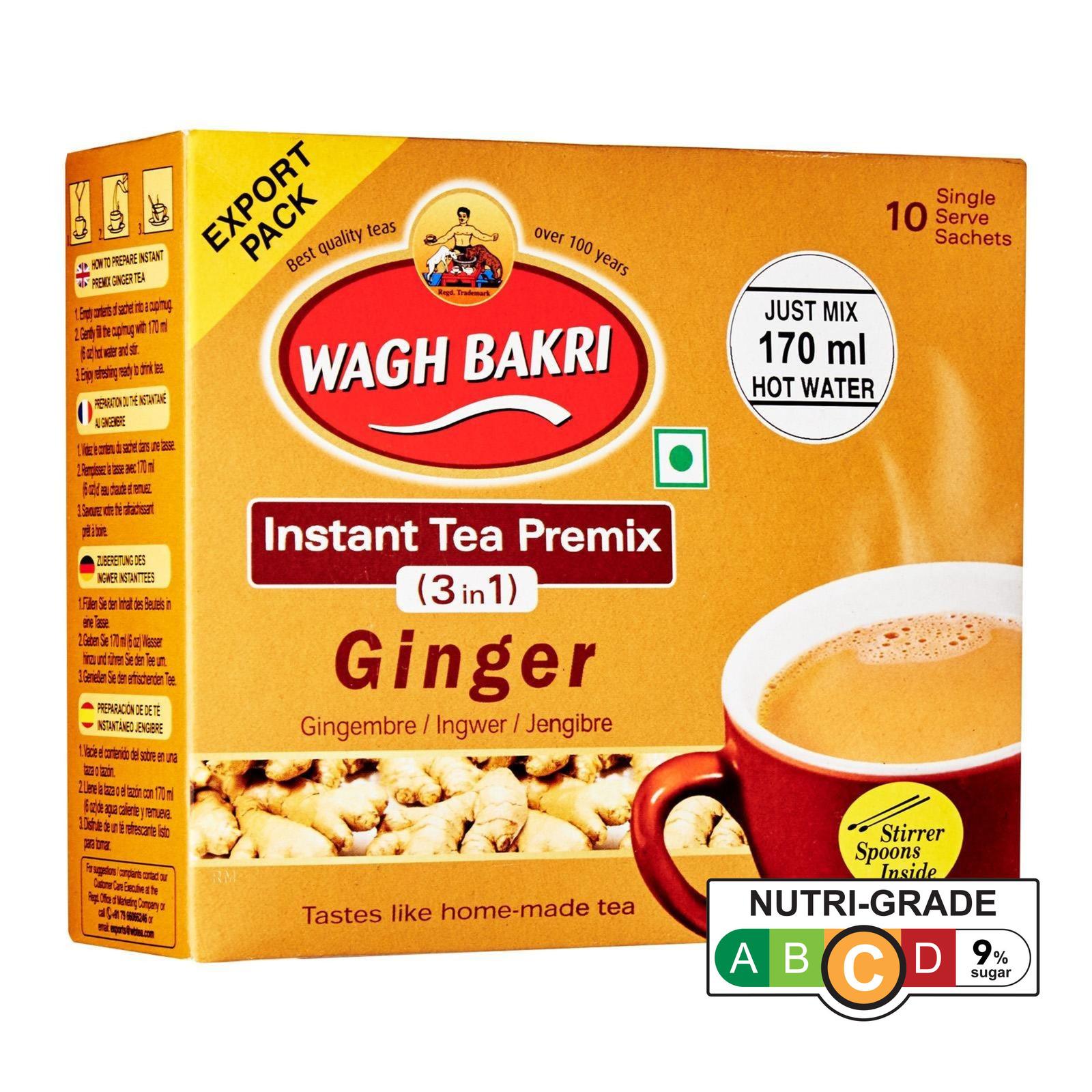 Wagh Bakri Ginger Tea Premix (3-in&-1)