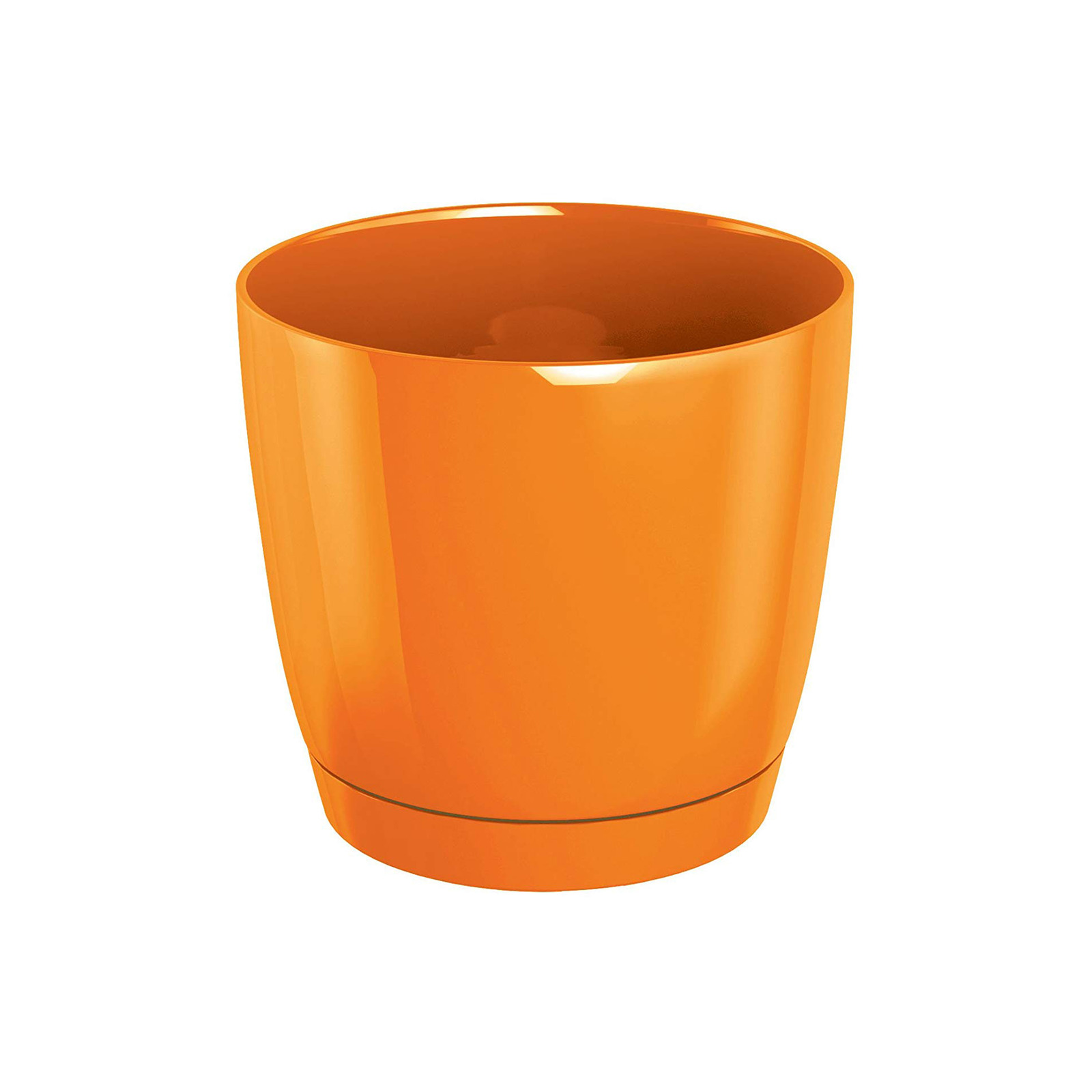 Prosperplast Coubi Flower Pot - Orange (120mm X 110mm)