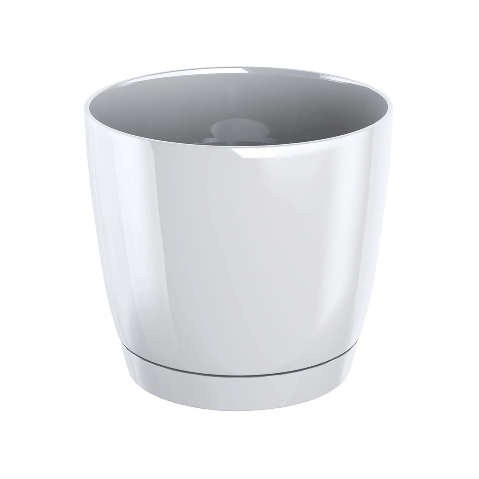 Prosperplast Coubi Round Pot - White (155mm X 142mm)
