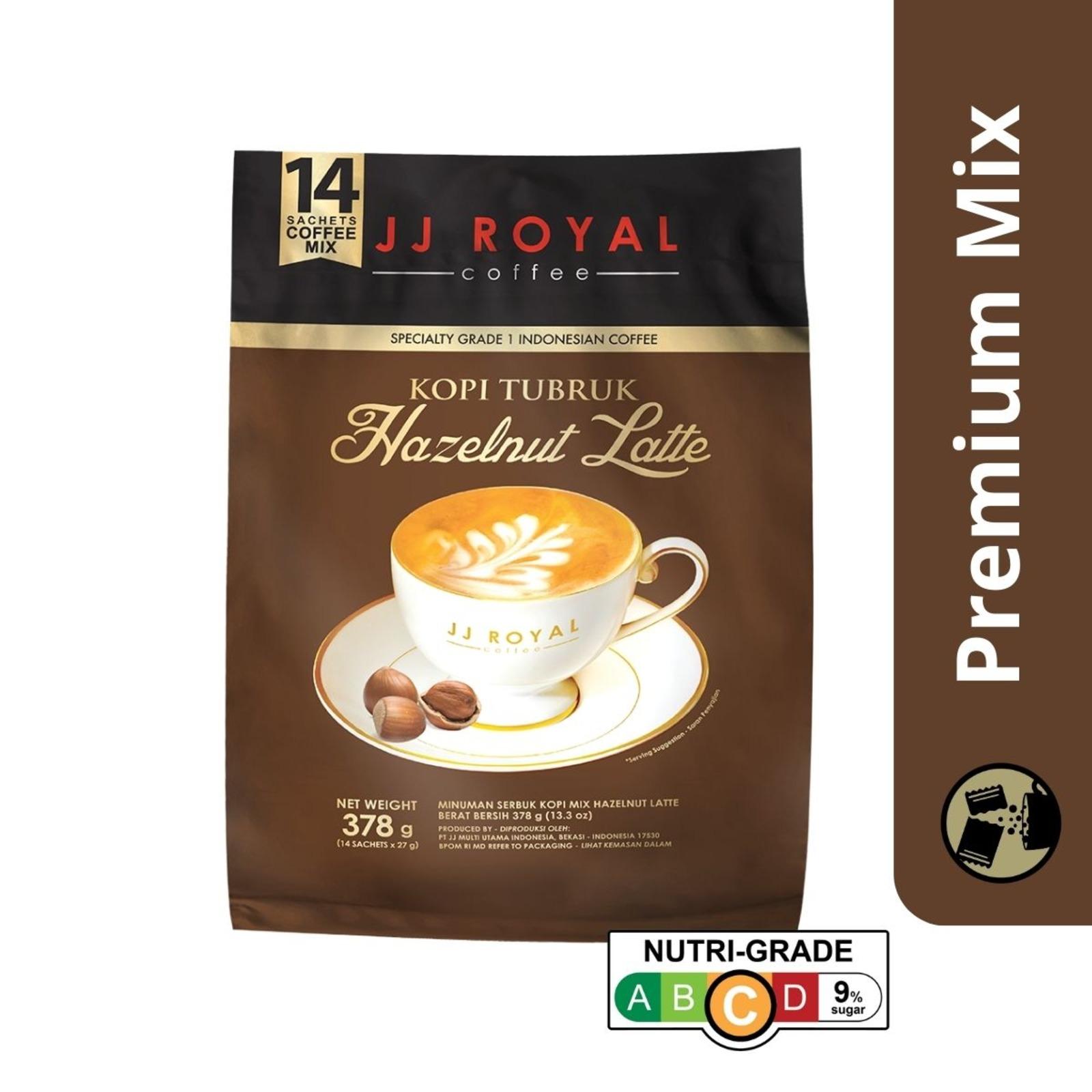 JJ Royal Coffee - Hazelnut Latte (Premix)