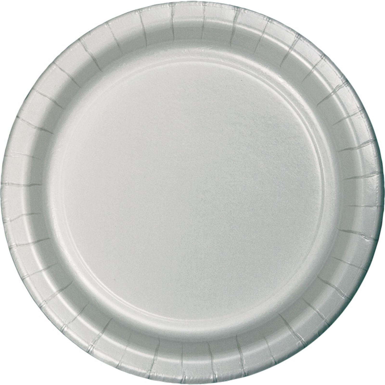 Creative Converting Silver 9 Inch Dinner Plates