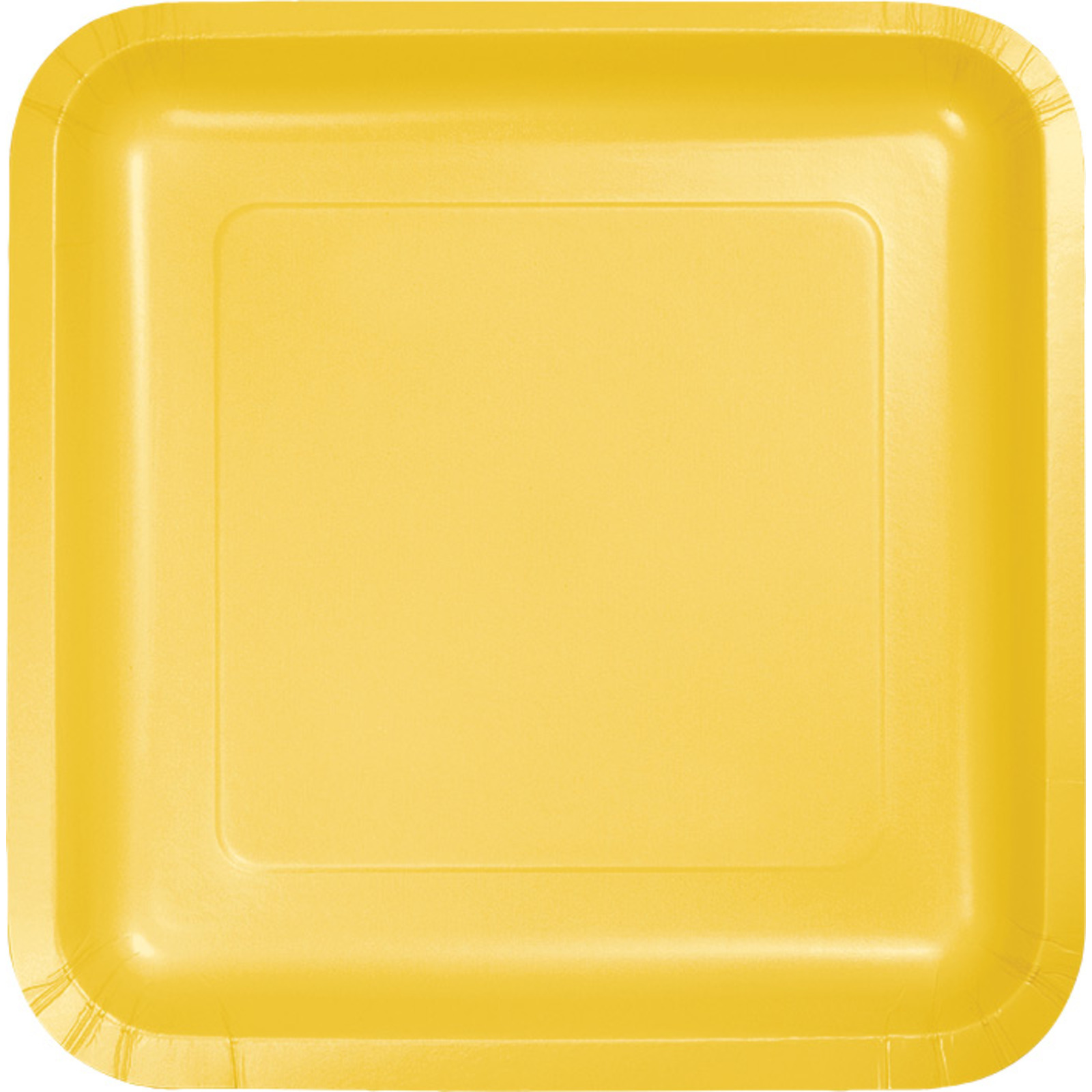 Creative Converting Yellow 7 Inch Square Lunch Plates