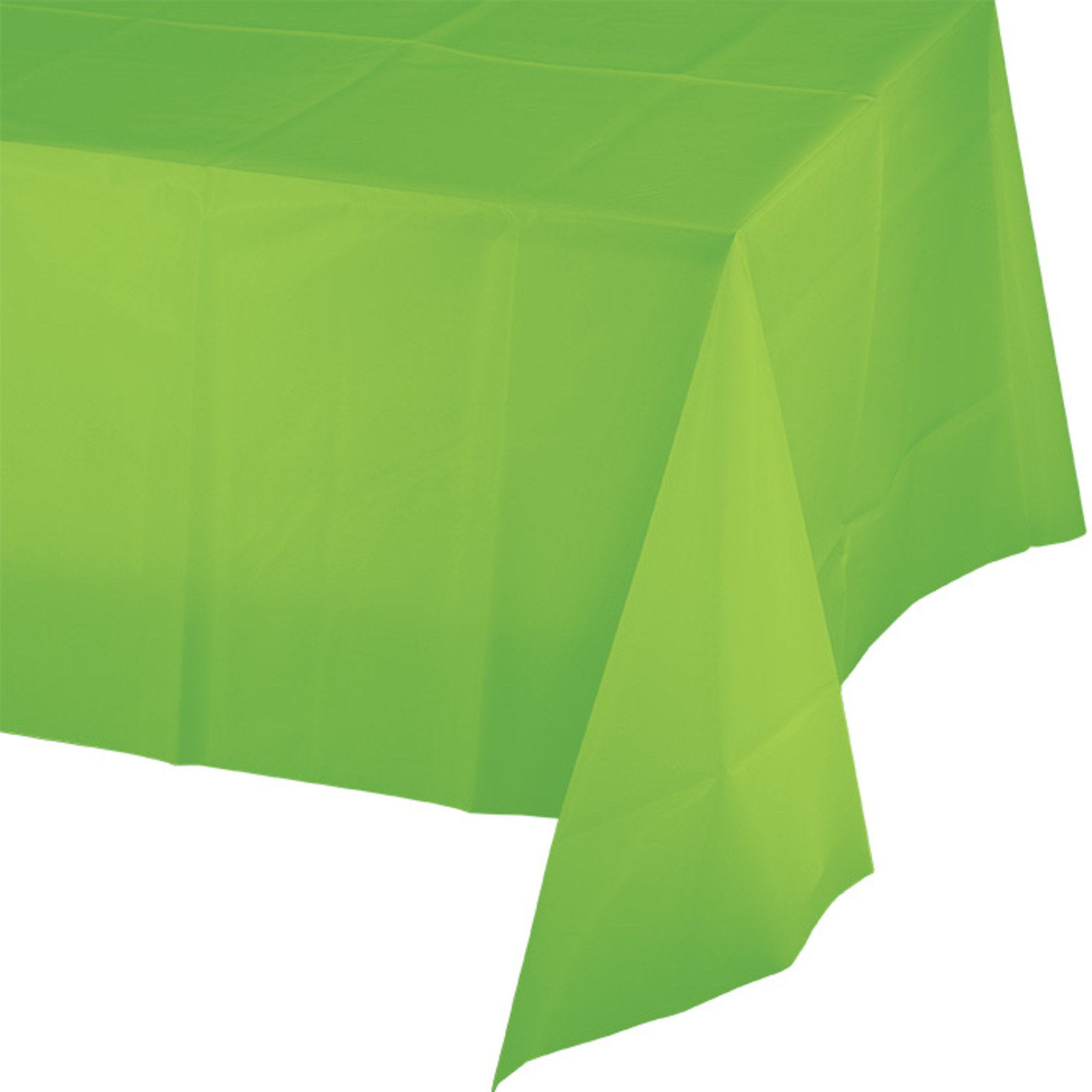 Creative Converting Lime Green Plastic Tablecover