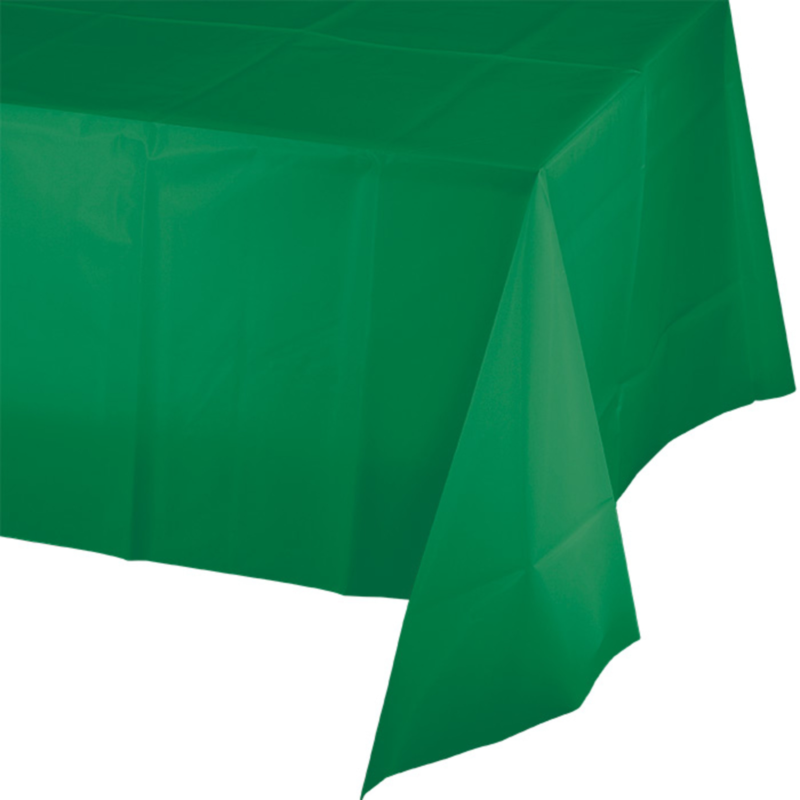 Creative Converting Green Plastic Tablecover