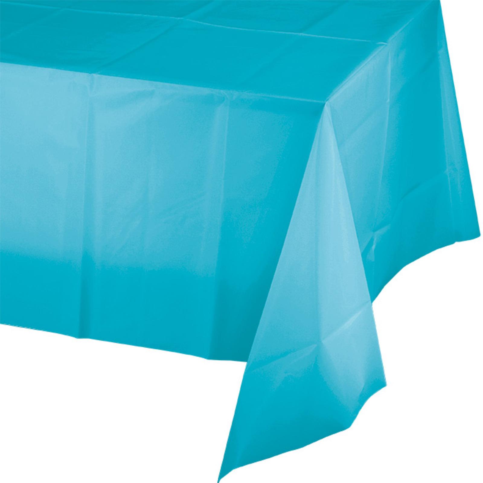 Creative Converting Bermuda Blue Plastic Tablecover