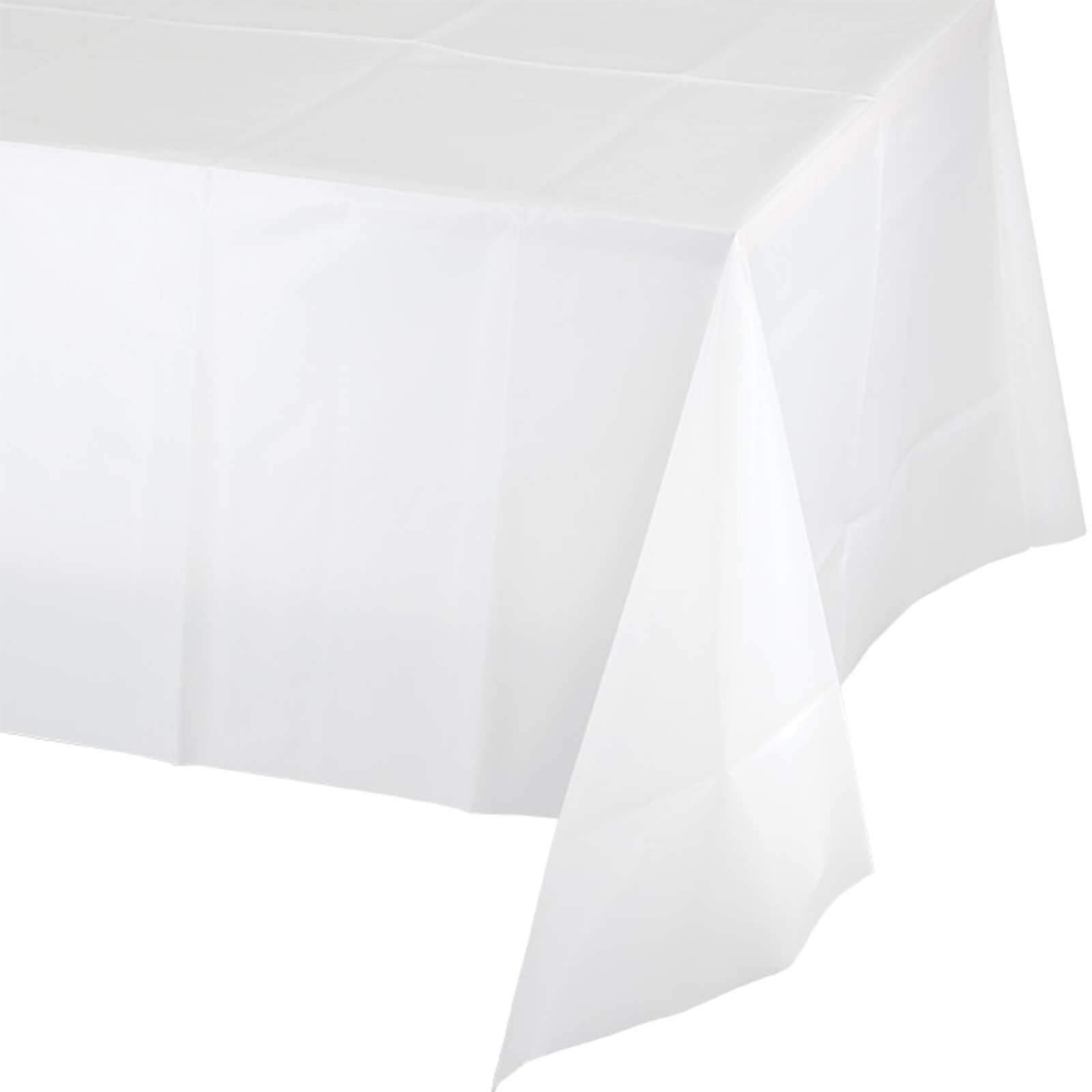 Creative Converting White Plastic Tablecover