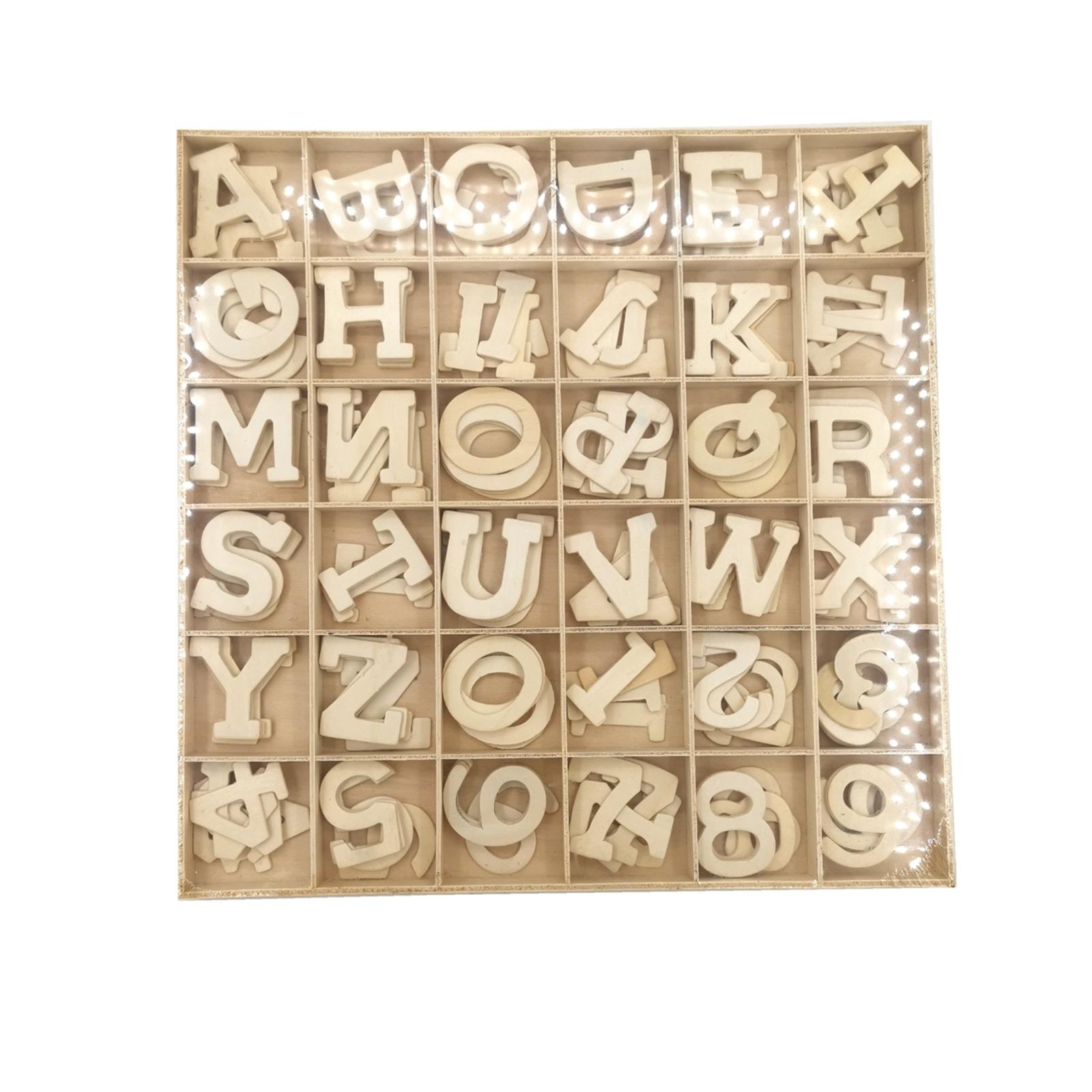 Alphabet & Number Set - Plain (B)
