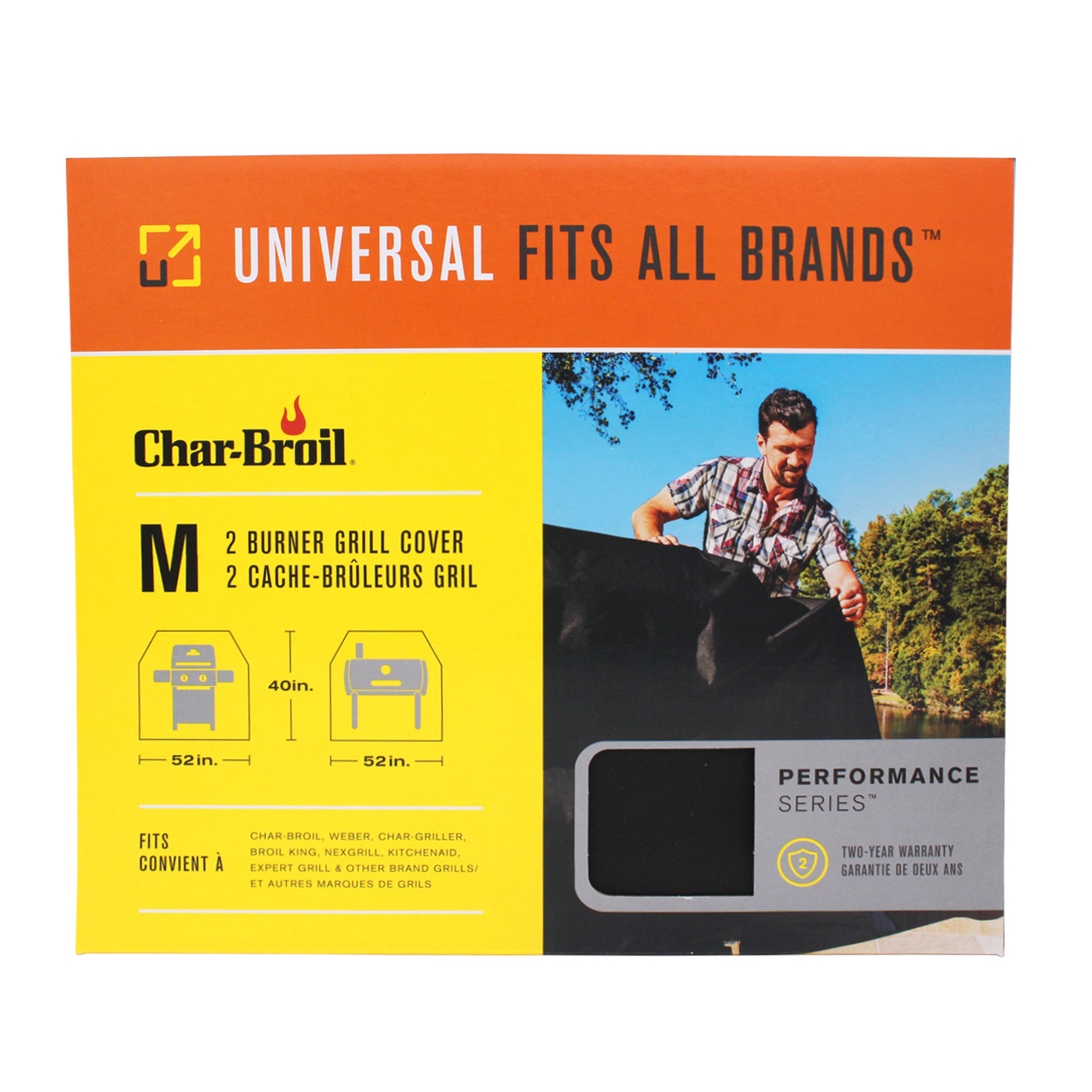 Char-Broil Universal 3-4 Burner Basic Grill Cover (Large)