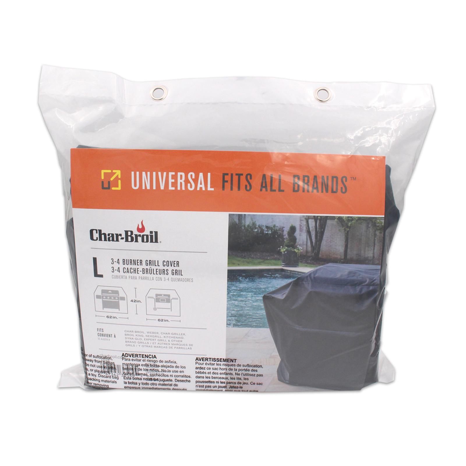 Char-Broil Universal 2 Burner Basic Grill Cover (Medium)