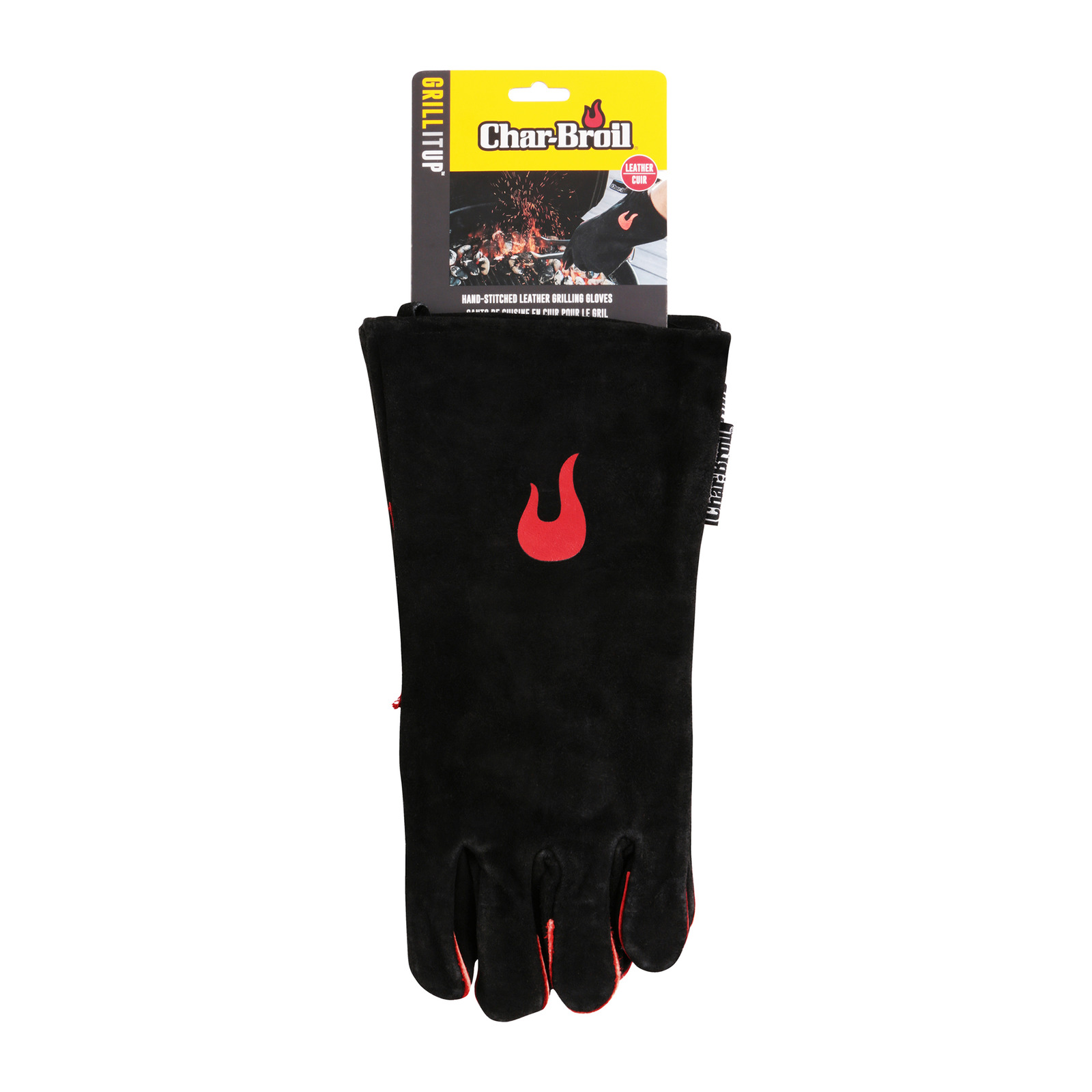 Char-Broil Hand-Stitched Leather BBQ Grilling Kitchen Gloves