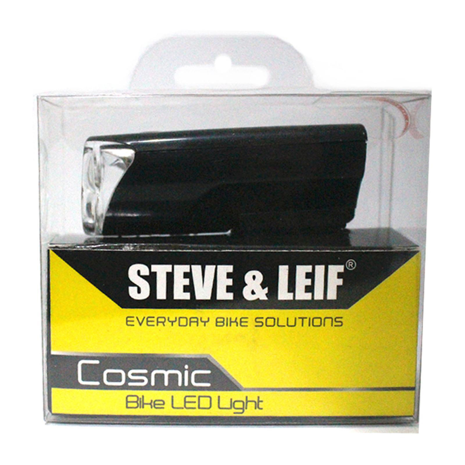 Steve & Leif Cosmic 3 LED White Bicycle Torch