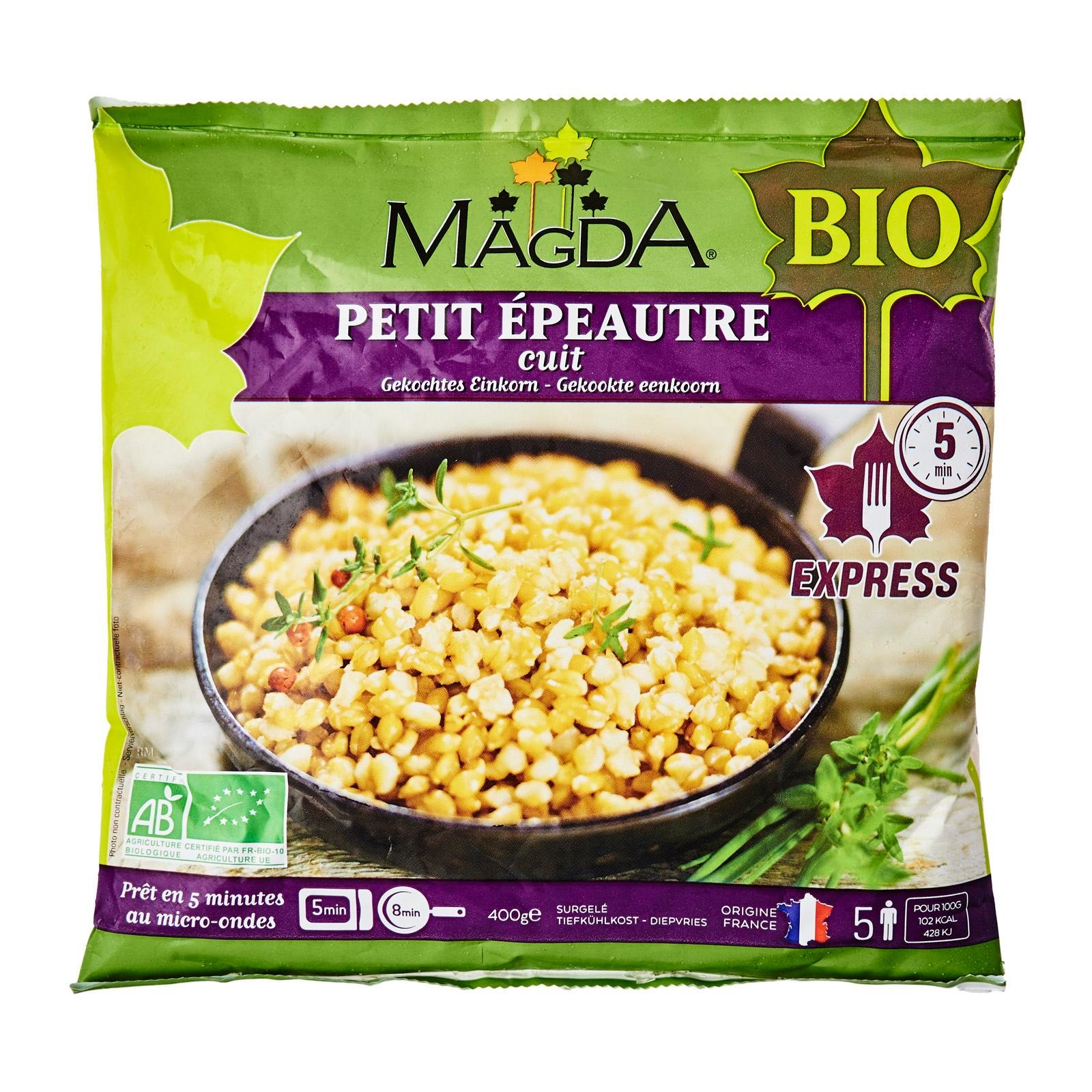 Magda Organic Cooked Small Spelt - Frozen-By Culina