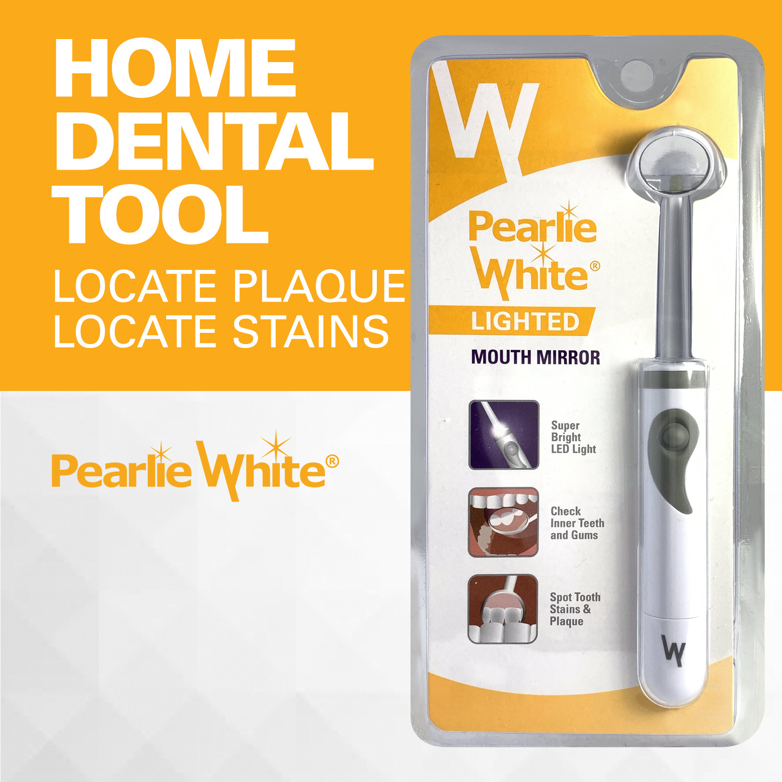 Pearlie White Lighted Mouth Mirror