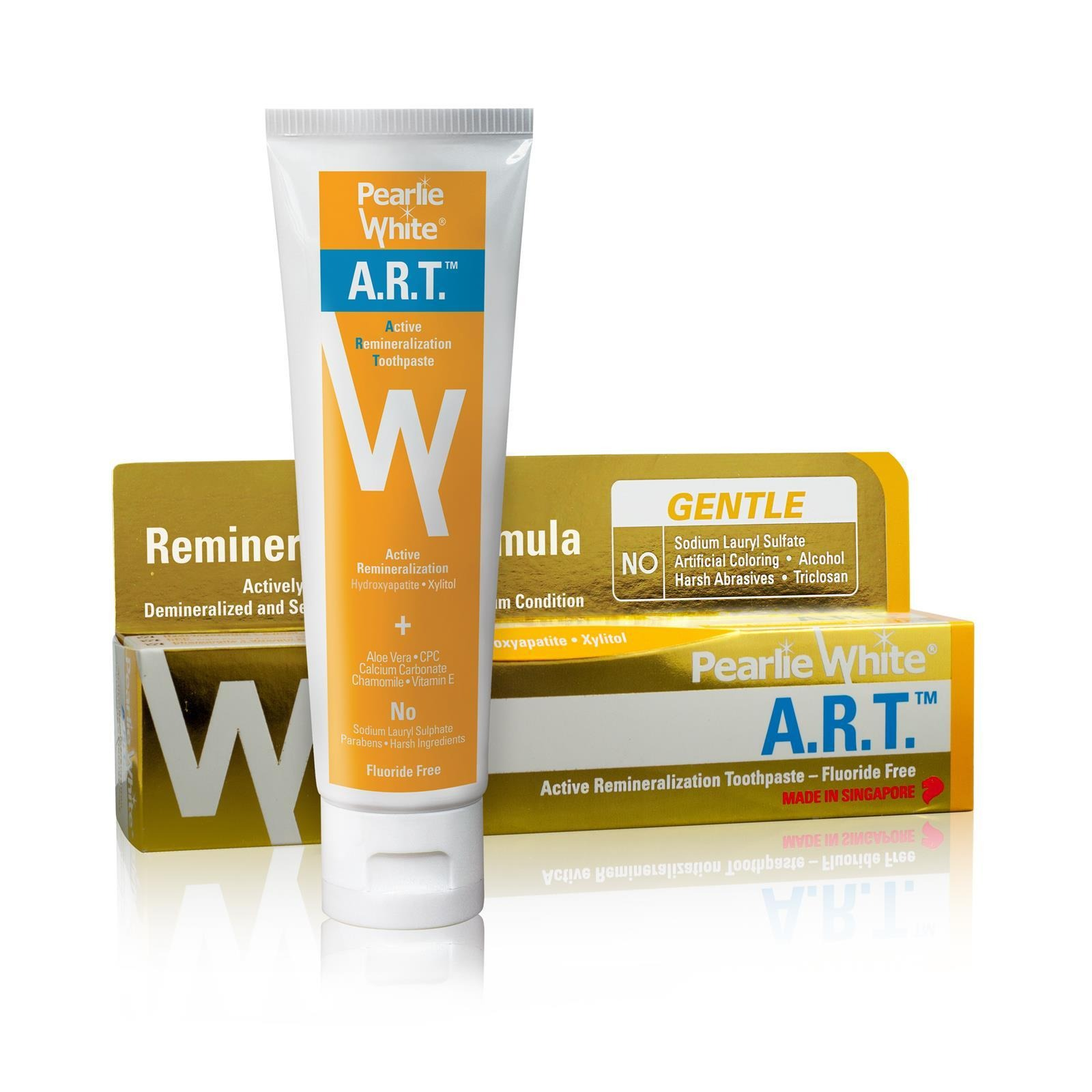 Pearlie White Active Remineralization Fluoride Free Toothpaste