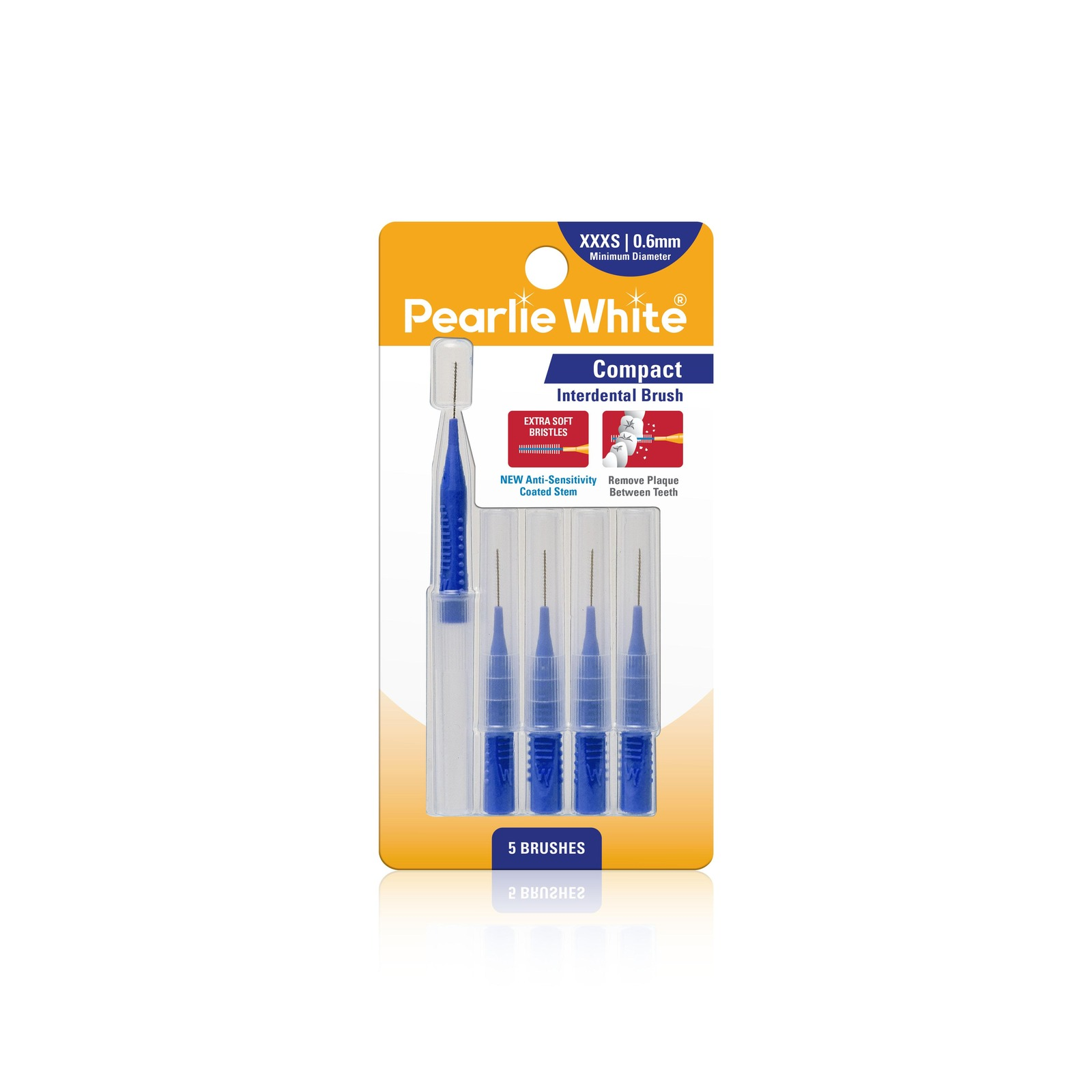 Pearlie White Compact Interdental Brushes XXXS 0.6mm
