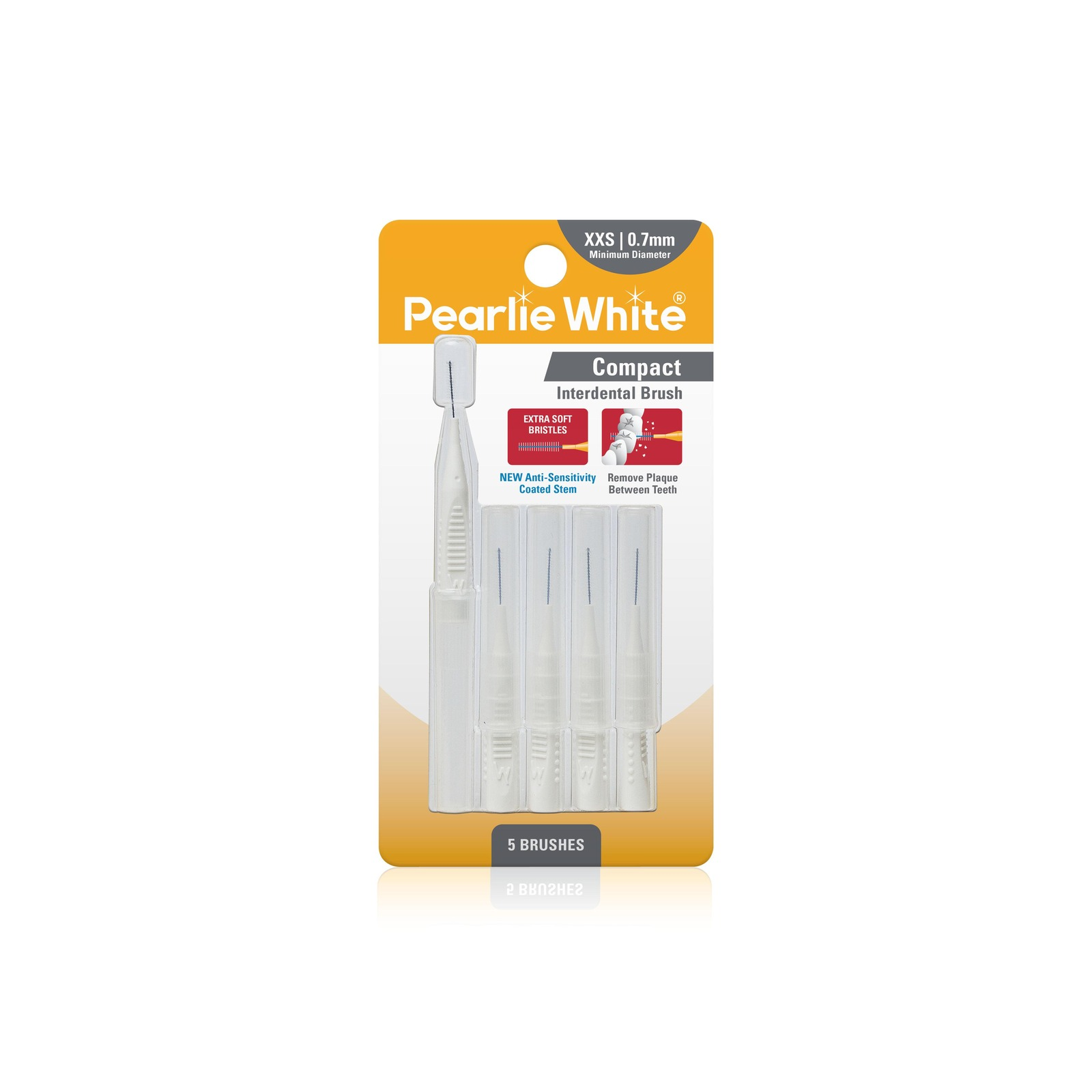 Pearlie White Compact Interdental Brushes XXS 0.7mm