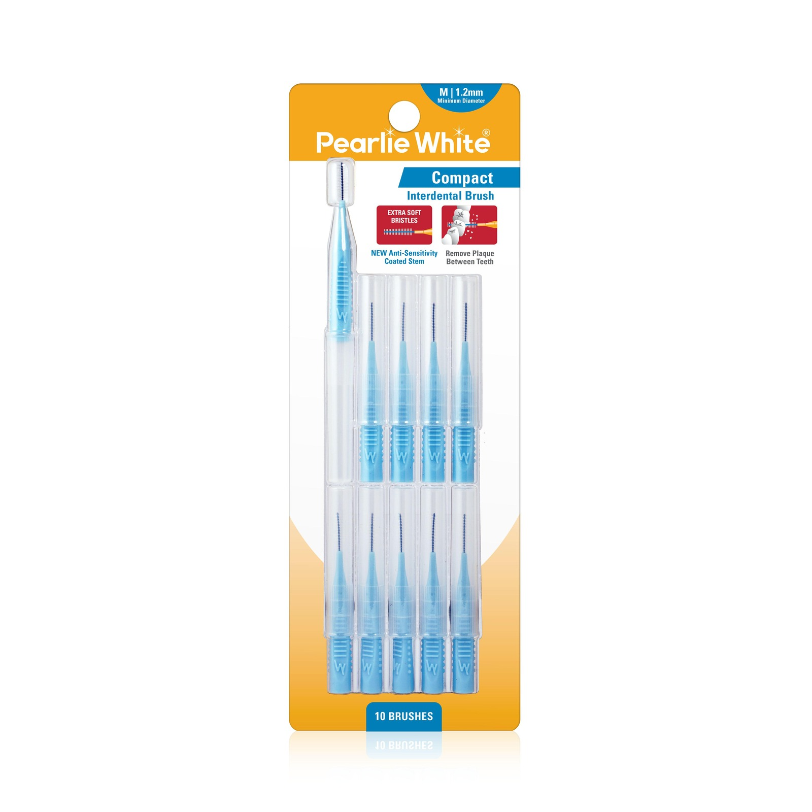 Pearlie White Compact Interdental Brushes M 1.2mm